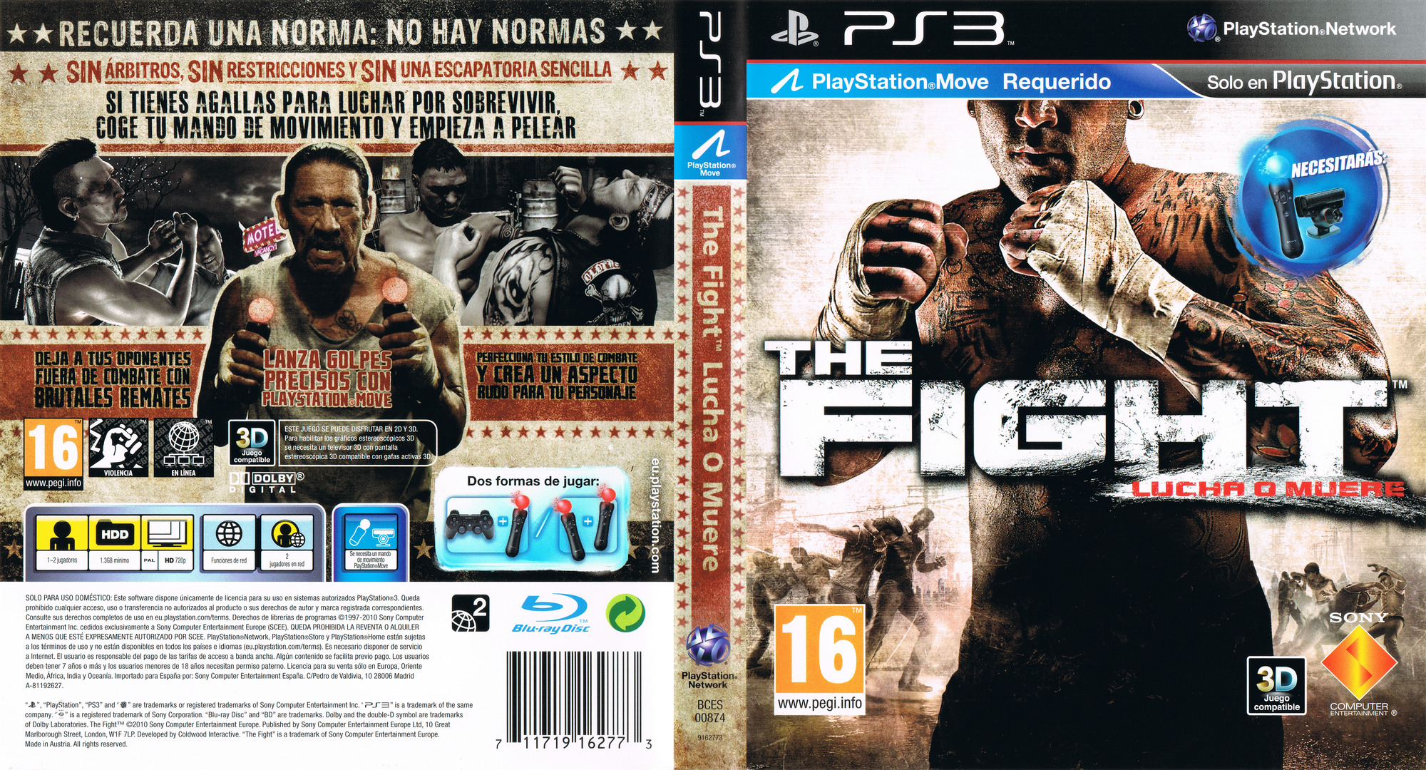 The Fight: Lucha o Muere PS3 coverfullHQ (BCES00874)