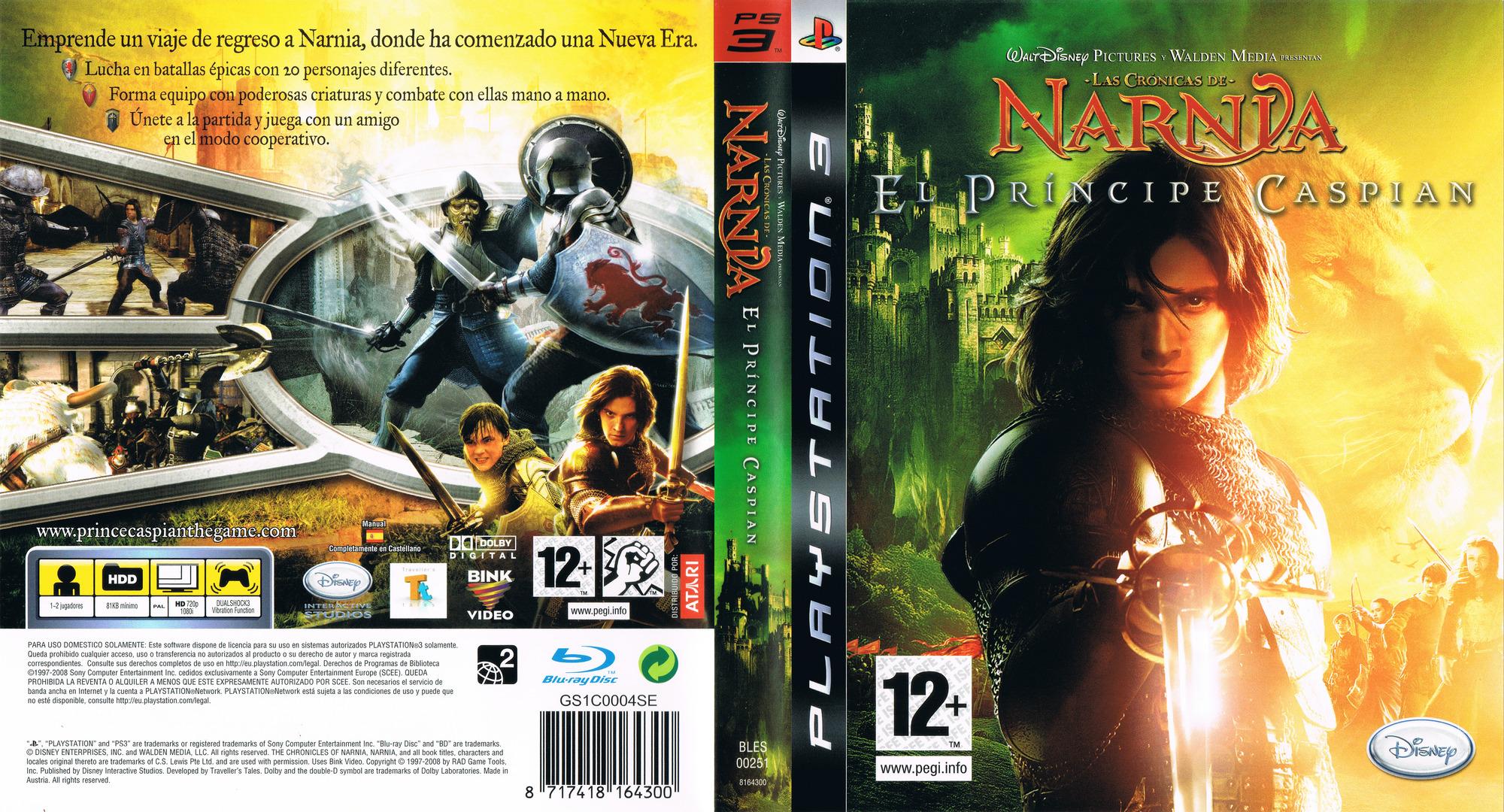 Las Crónicas de Narnia: El Príncipe Caspian PS3 coverfullHQ (BLES00251)