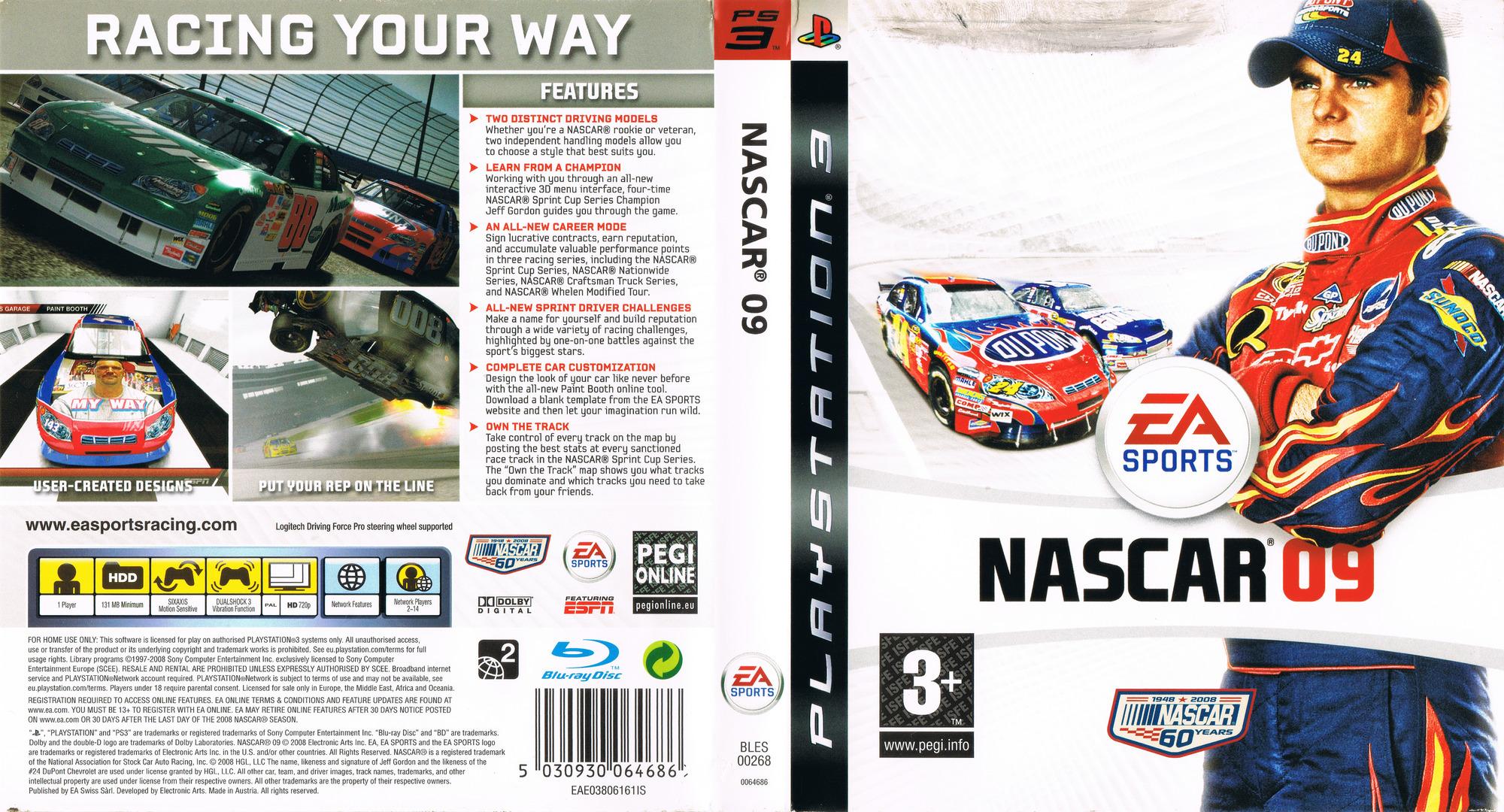Nascar Racing Games >> BLES00268 - Nascar 09