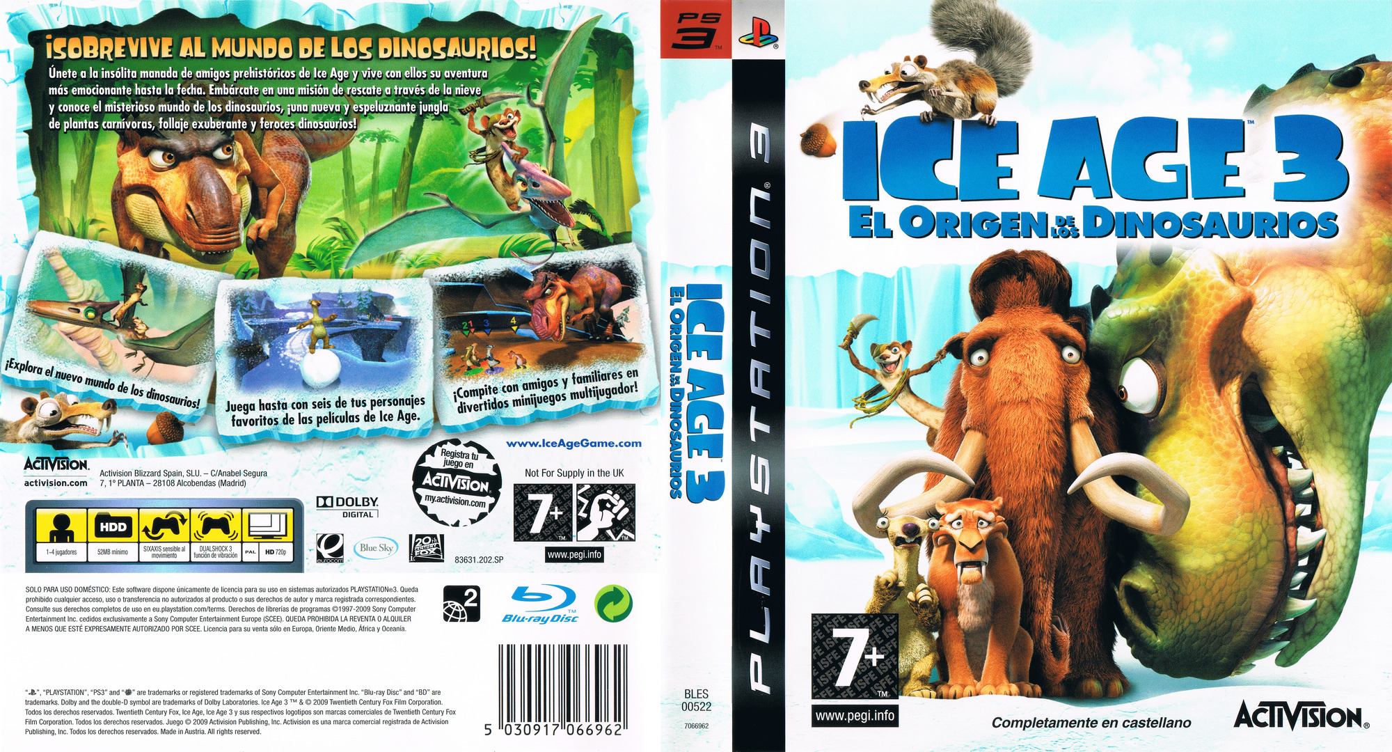 Ice Age 3: El Origen De Los Dinosaurios PS3 coverfullHQ (BLES00522)