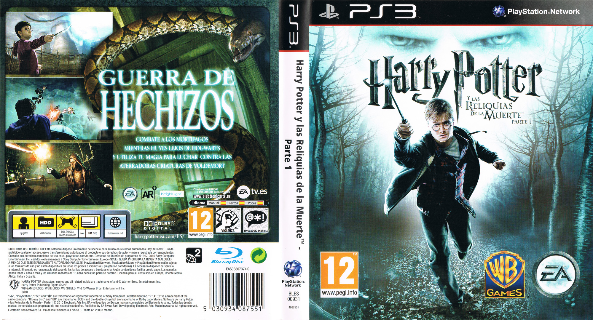 Harry Potter y Las Reliquias de la Muerte: Parte 1 PS3 coverfullHQ (BLES00931)
