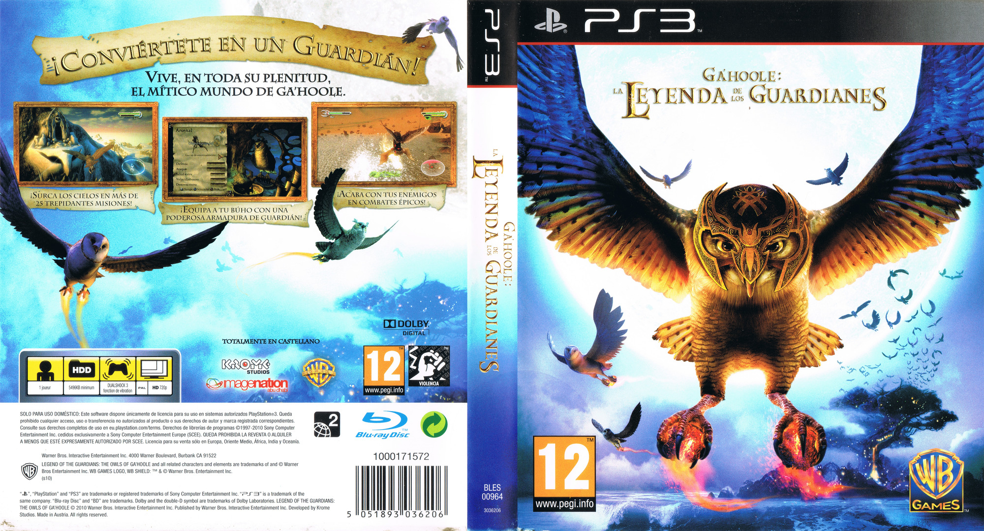 Ga'Hoole: La Leyenda de los Guardianes PS3 coverfullHQ (BLES00964)