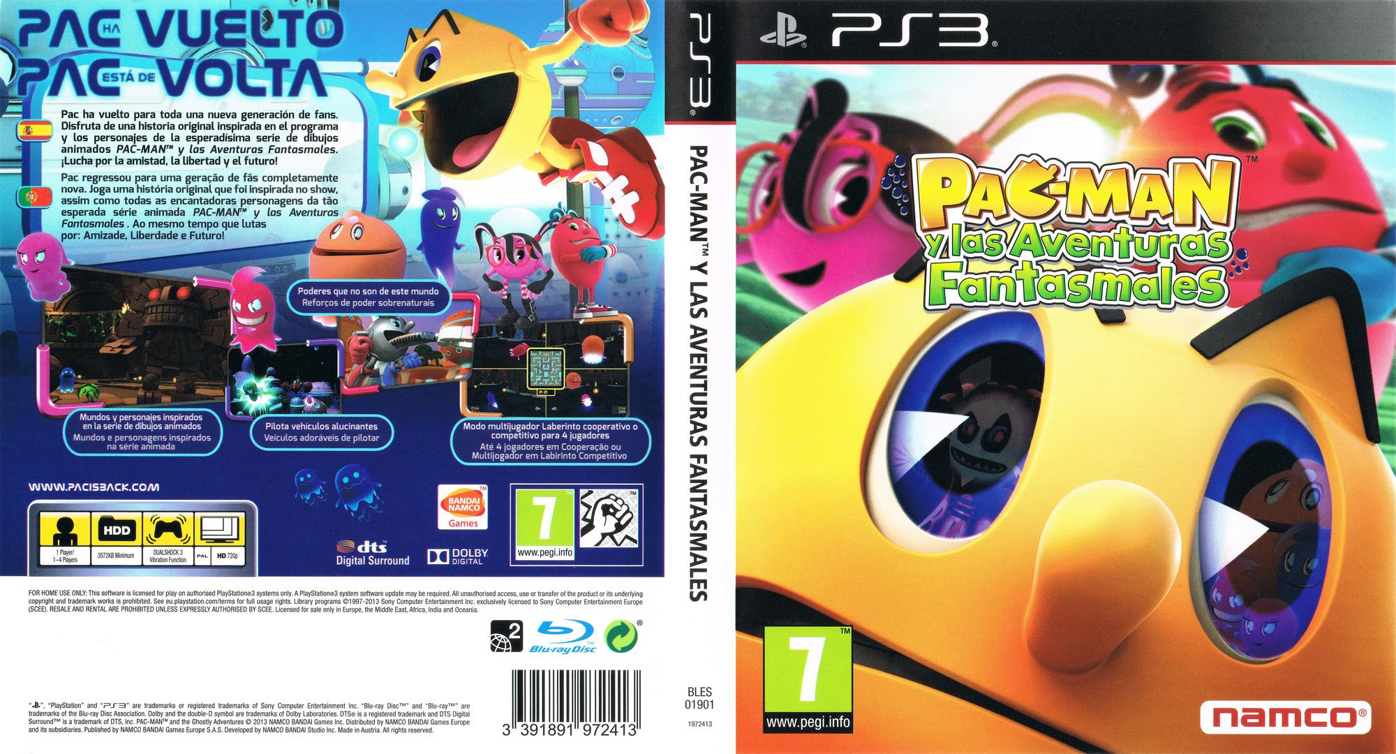 Pac-Man y las Aventuras Fantasmales PS3 coverfullHQ (BLES01901)