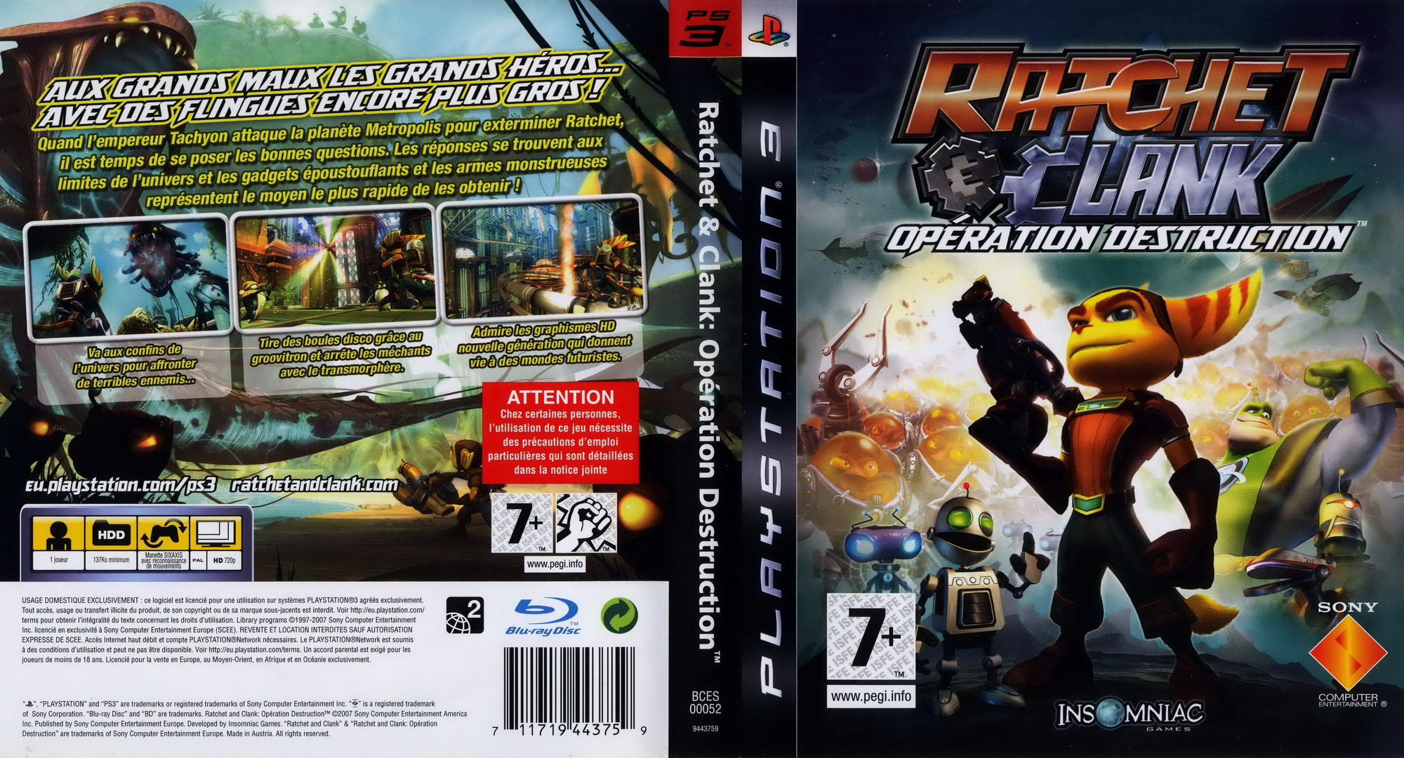 Ratchet et Clank: Opération destruction PS3 coverfullHQ (BCES00052)