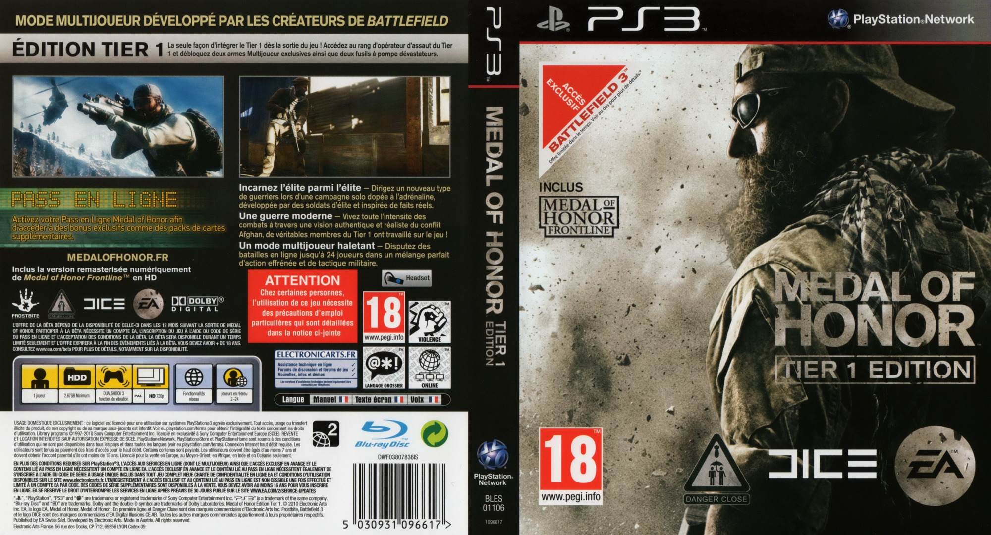 Medal of Honor: Tier 1 Edition PS3 coverfullHQ (BLES01106)