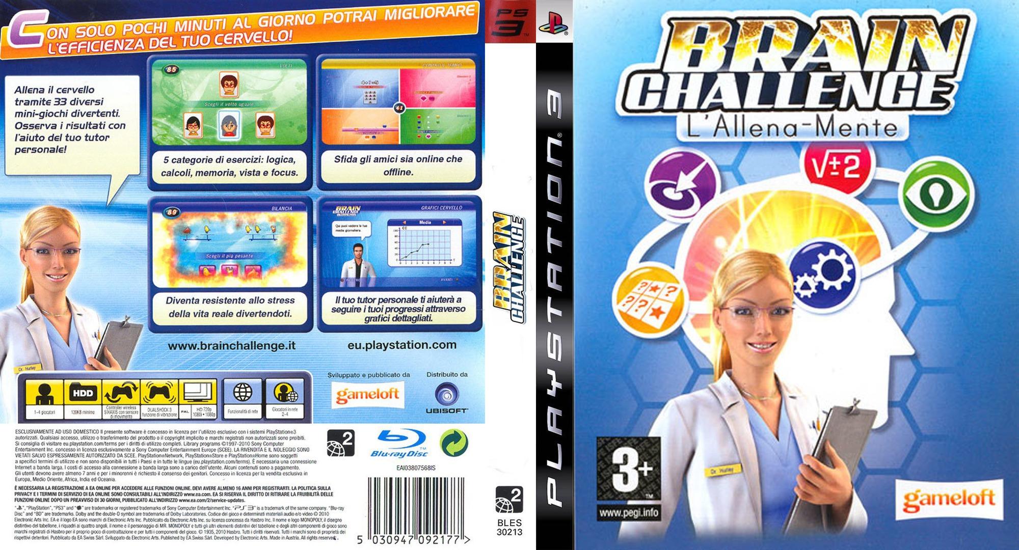 Brain Challenge: L'Allena-Mente PS3 coverfullHQ (BLES30213)