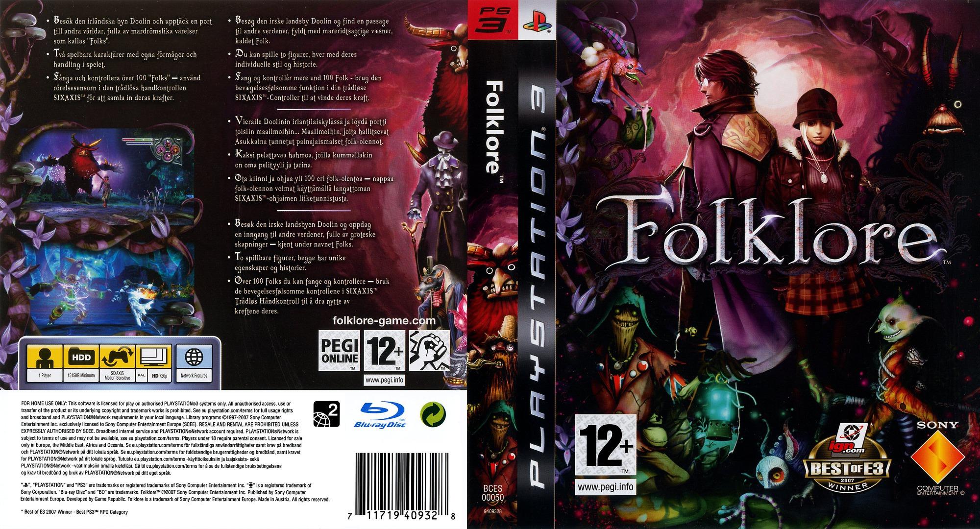 PS3 - Folklore [EU][DLC][PKG][MEGA]