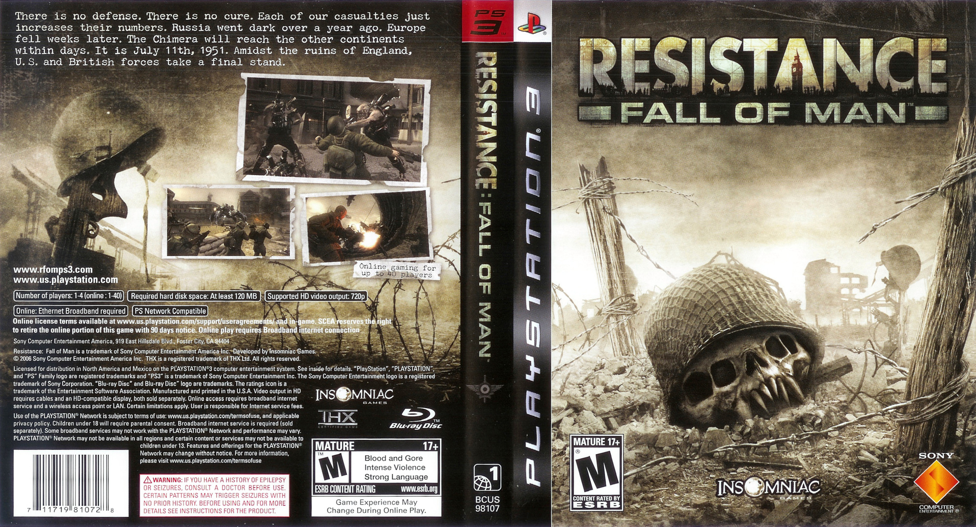 Resistance: Fall of Man PS3 coverfullHQ (BCUS98107)