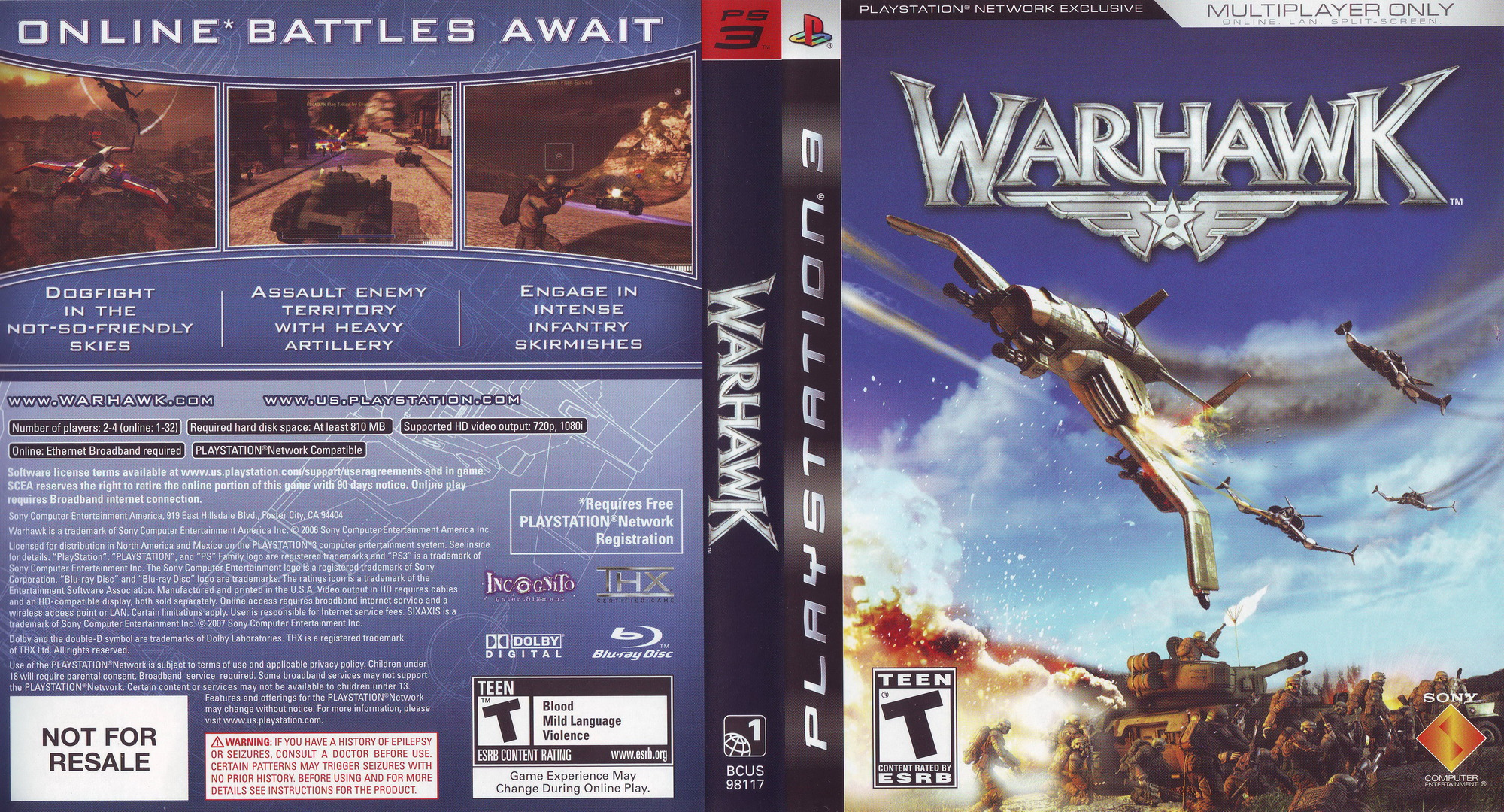 Warhawk (With Headset) PS3 coverfullHQ (BCUS98117)
