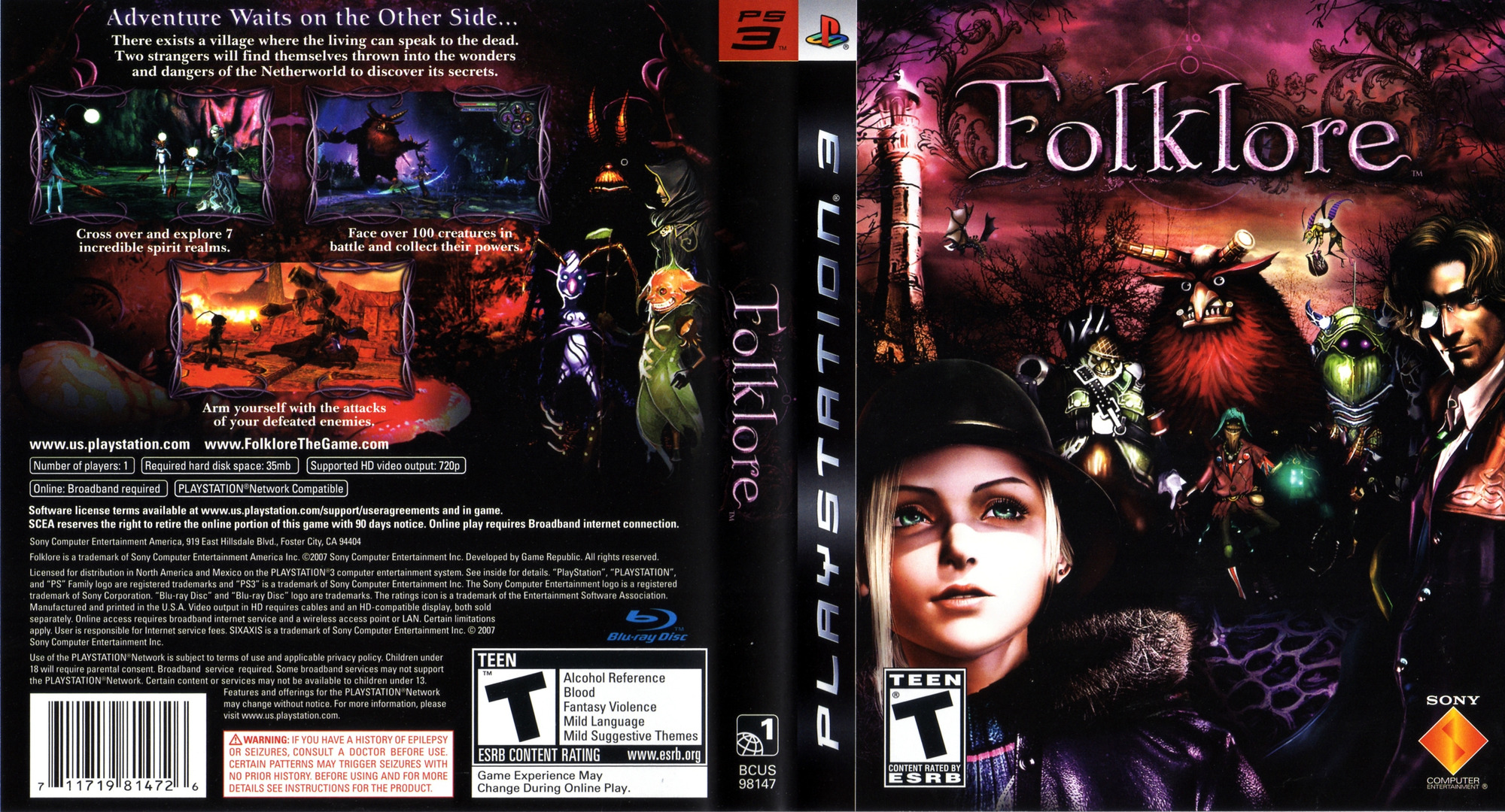 Folklore PS3 coverfullHQ (BCUS98147)