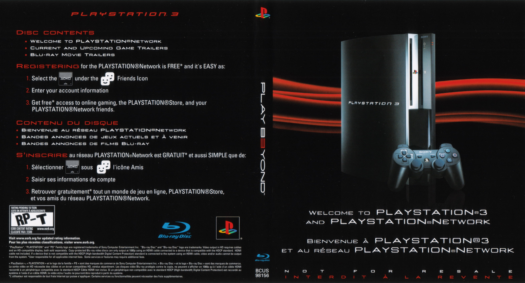 Welcome to PlayStation Network and PlayStation 3 40GB PS3 coverfullHQ (BCUS98156)
