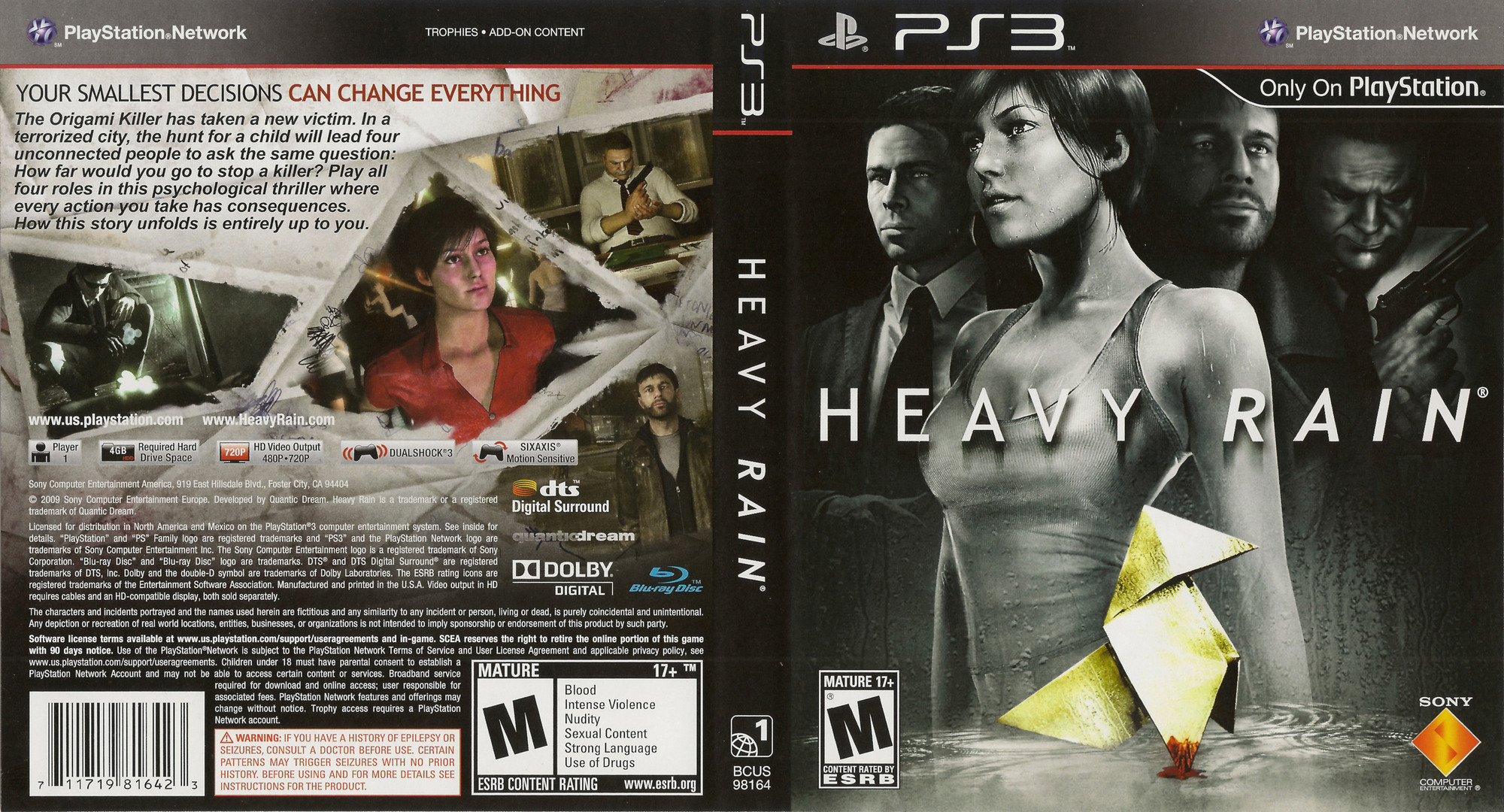 Heavy Rain PS3 coverfullHQ (BCUS98164)