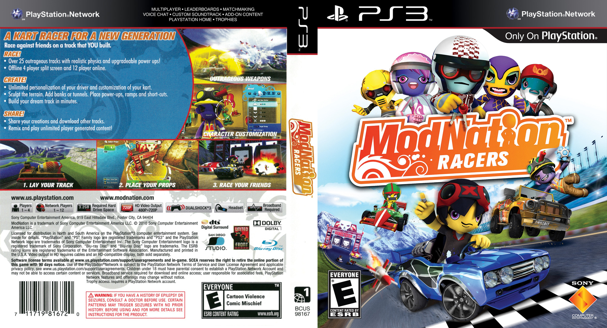 ModNation Racers PS3 coverfullHQ (BCUS98167)