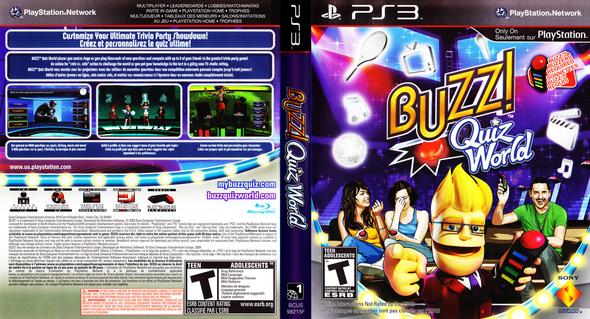 Buzz! Quiz World PS3 coverfullHQ (BCUS98209)