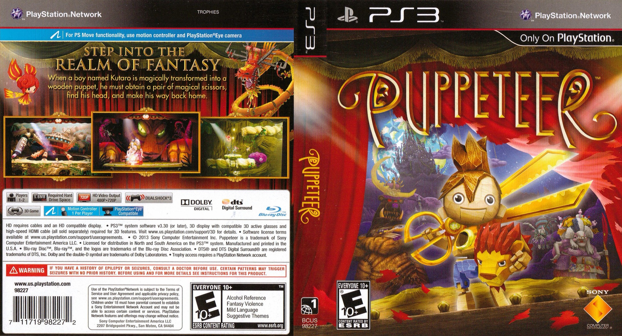 Puppeteer PS3 coverfullHQ (BCUS98227)