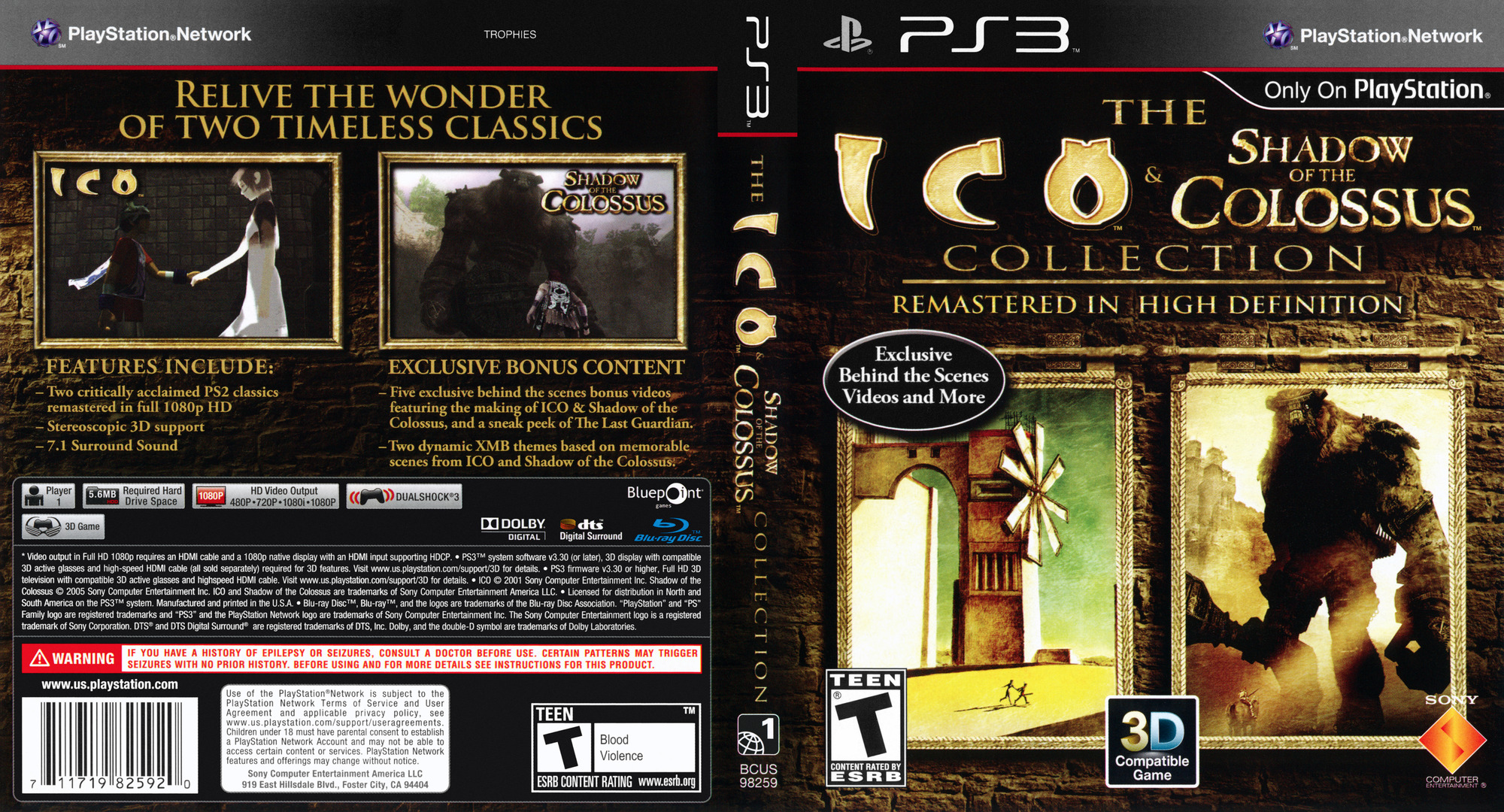 BCUS98259 - The ICO & Shadow of the Colossus Collection