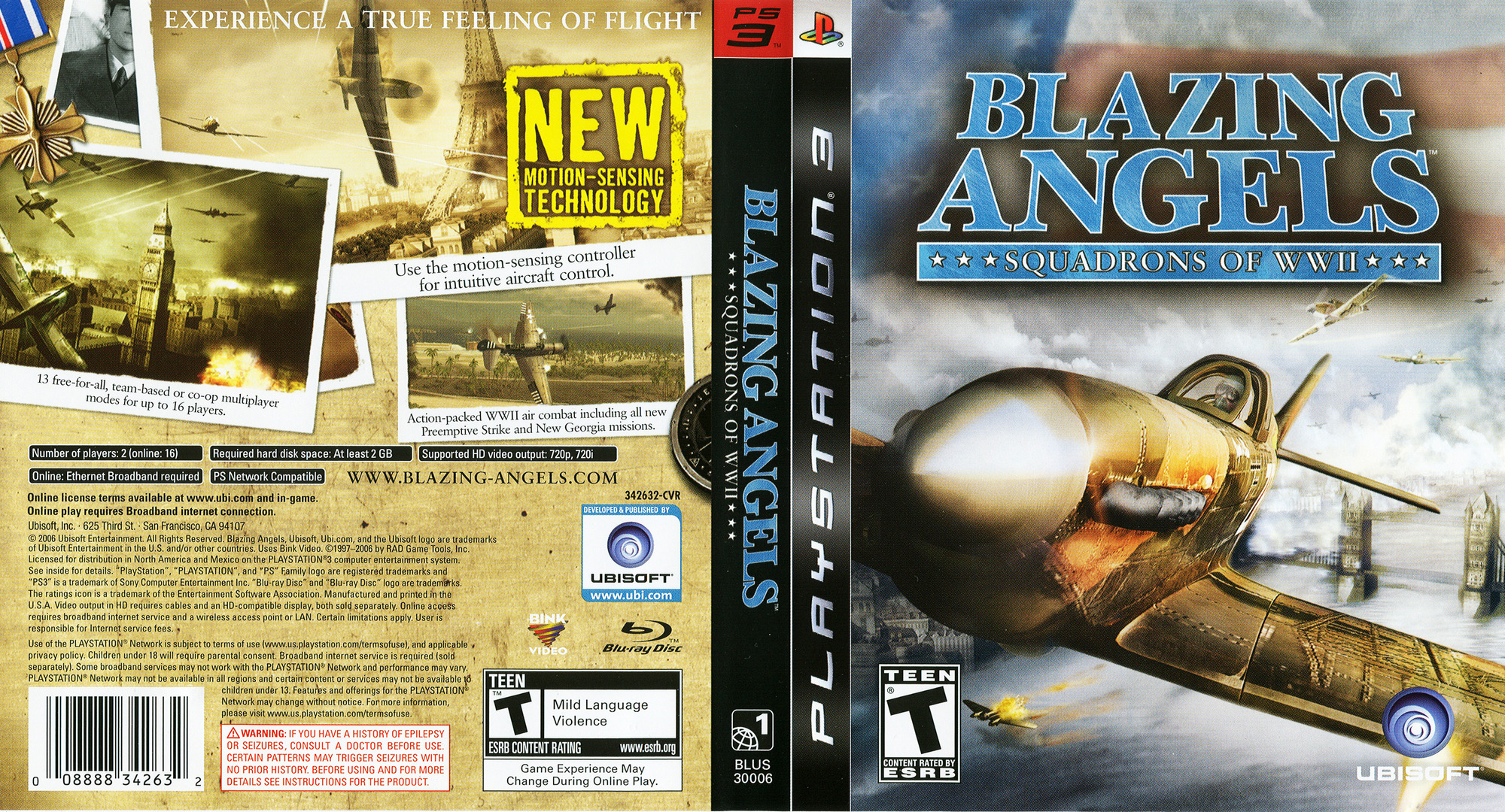 Blazing Angels: Squadrons of WWII PS3 coverfullHQ (BLUS30006)