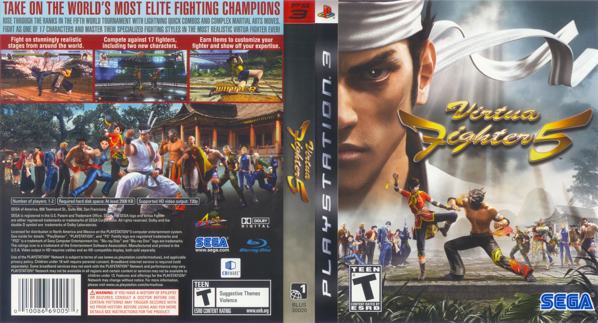 Release Date >> BLUS30020 - Virtua Fighter 5
