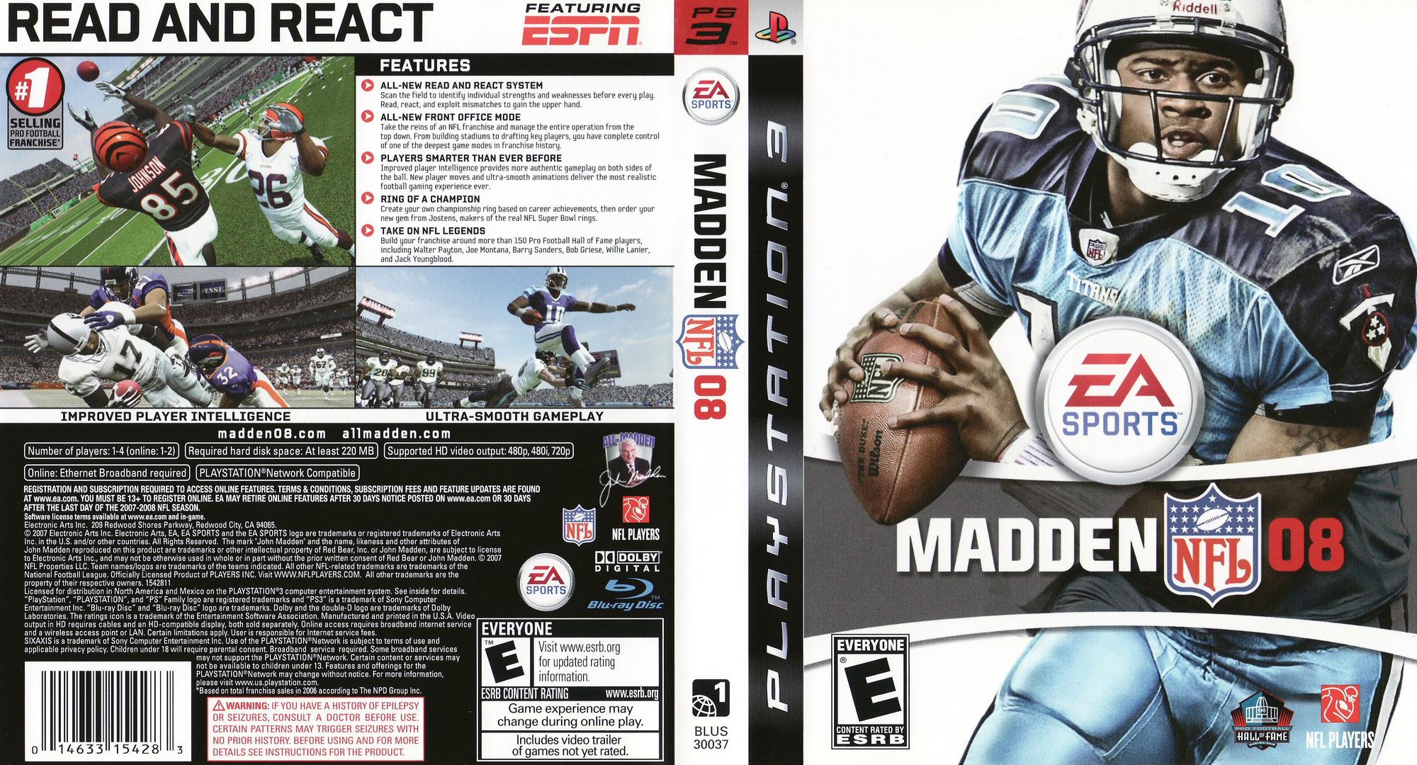 Madden NFL 08 PS3 coverfullHQ (BLUS30037)