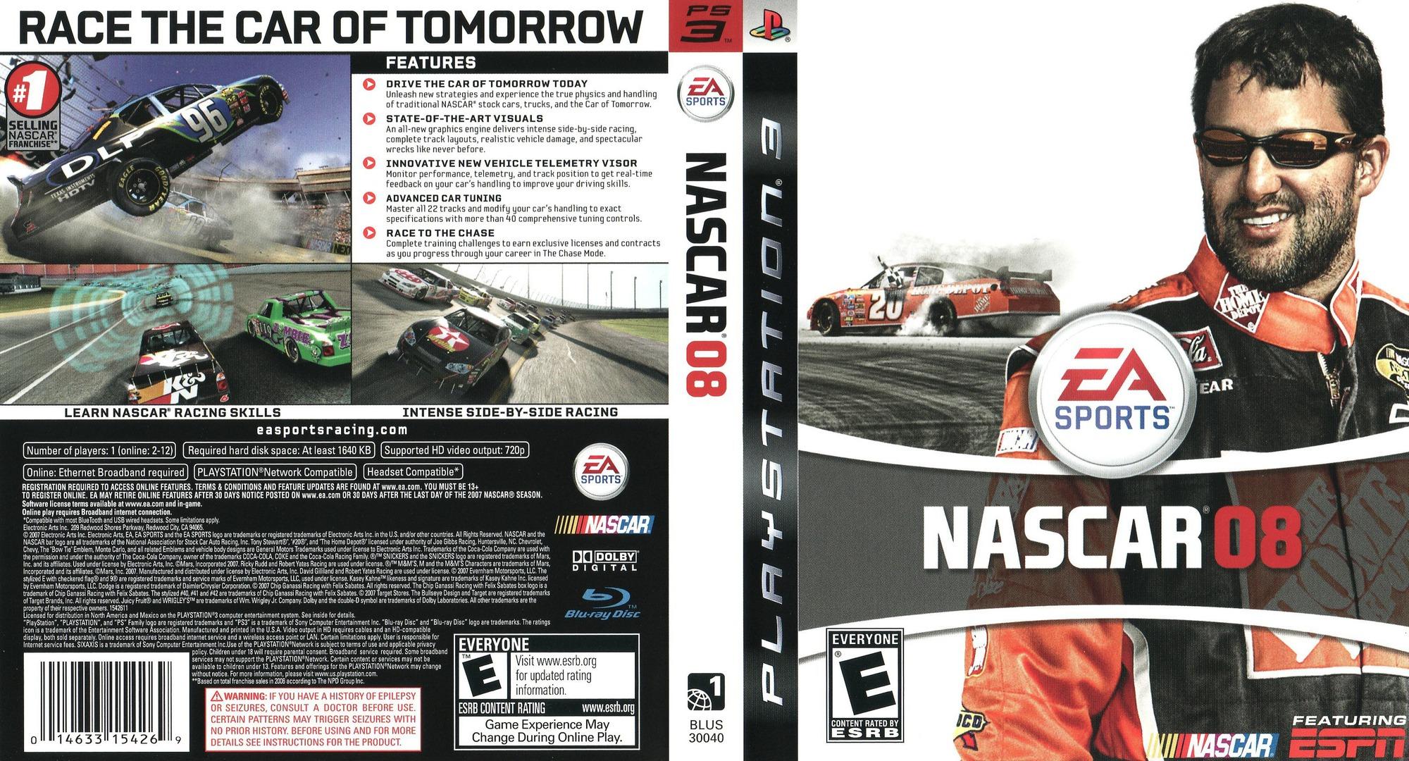 NASCAR '08 PS3 coverfullHQ (BLUS30040)