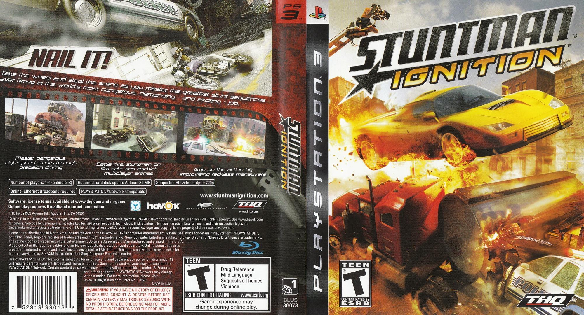 Stuntman: Ignition PS3 coverfullHQ (BLUS30073)