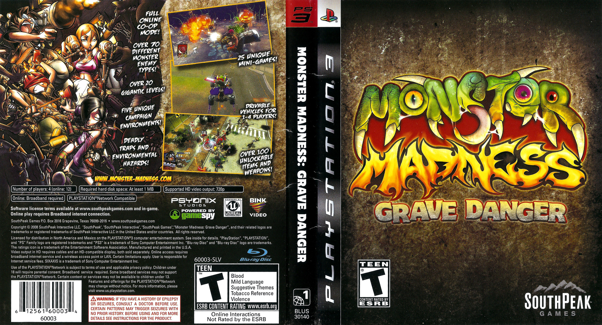Monster Madness: Grave Danger PS3 coverfullHQ (BLUS30140)