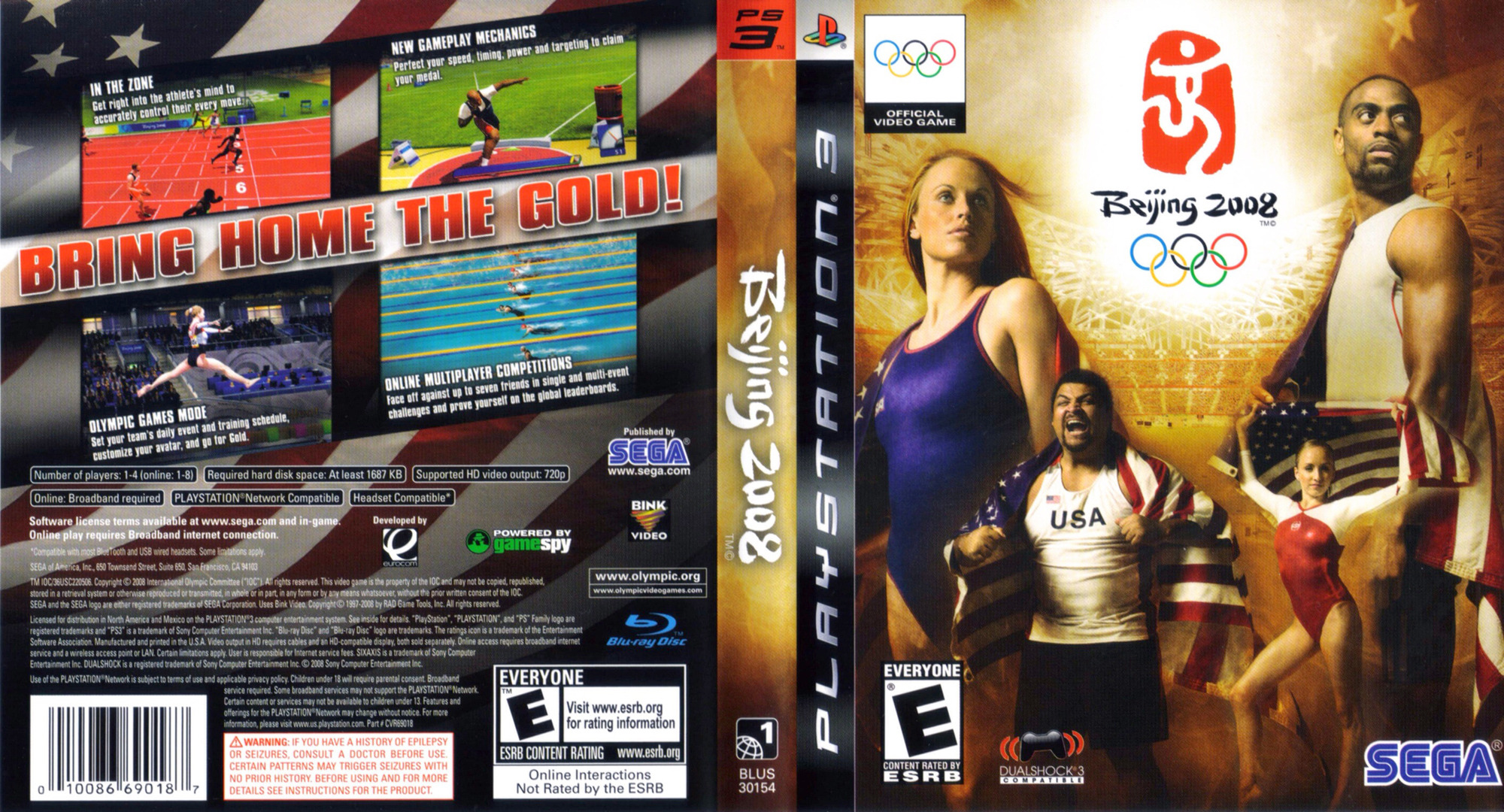 Beijing 2008: The Official Video Game of the Olympic Games PS3 coverfullHQ (BLUS30154)