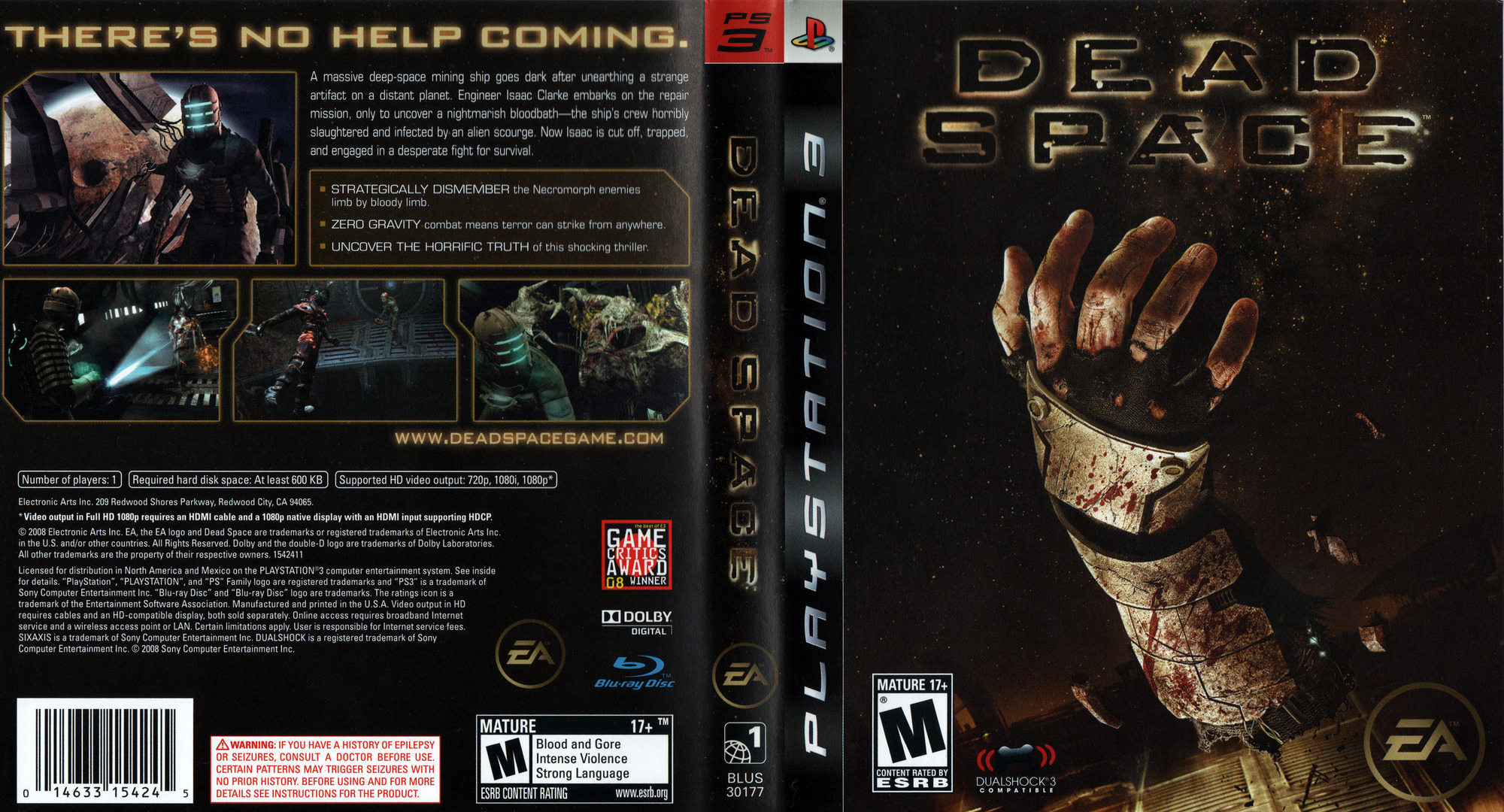 Dead Space PS3 coverfullHQ (BLUS30177)