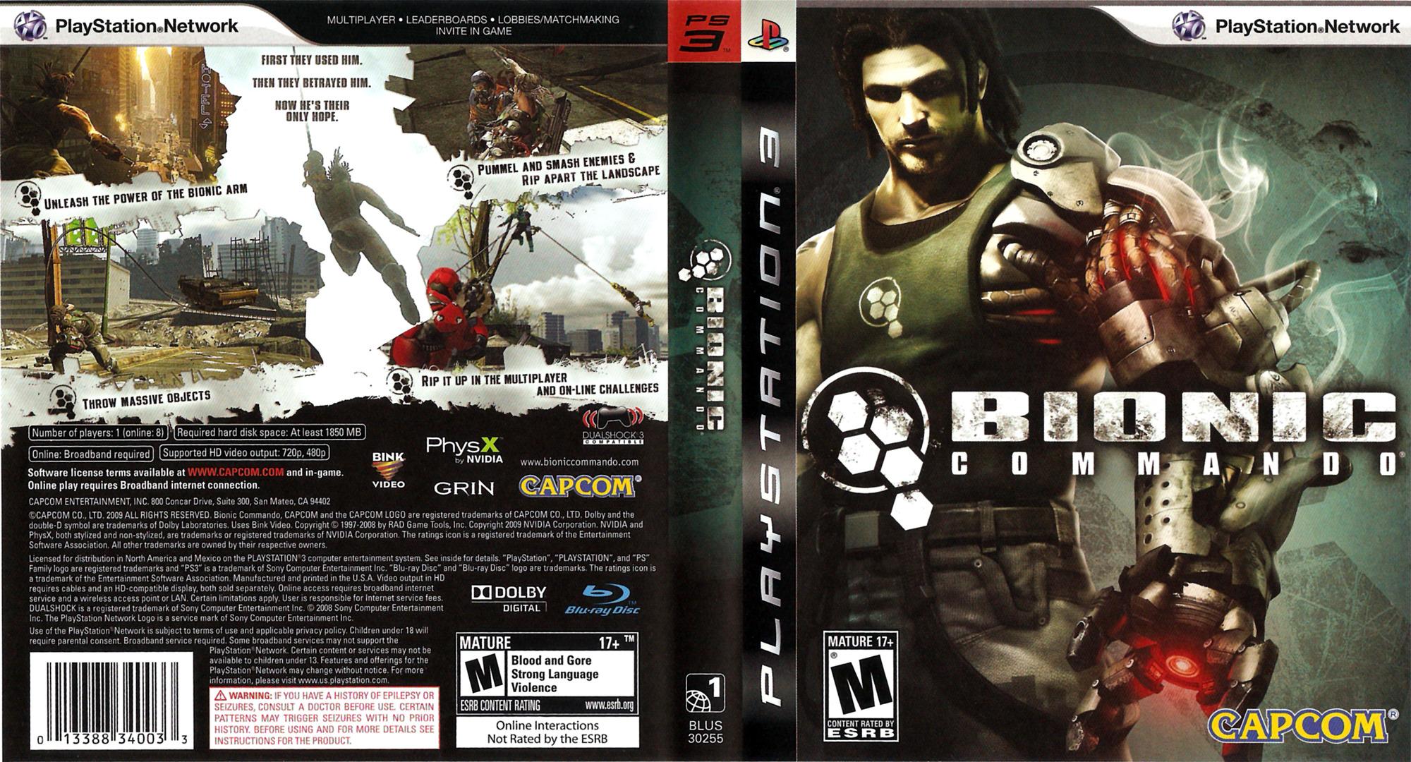 Bionic Commando PS3 coverfullHQ (BLUS30255)
