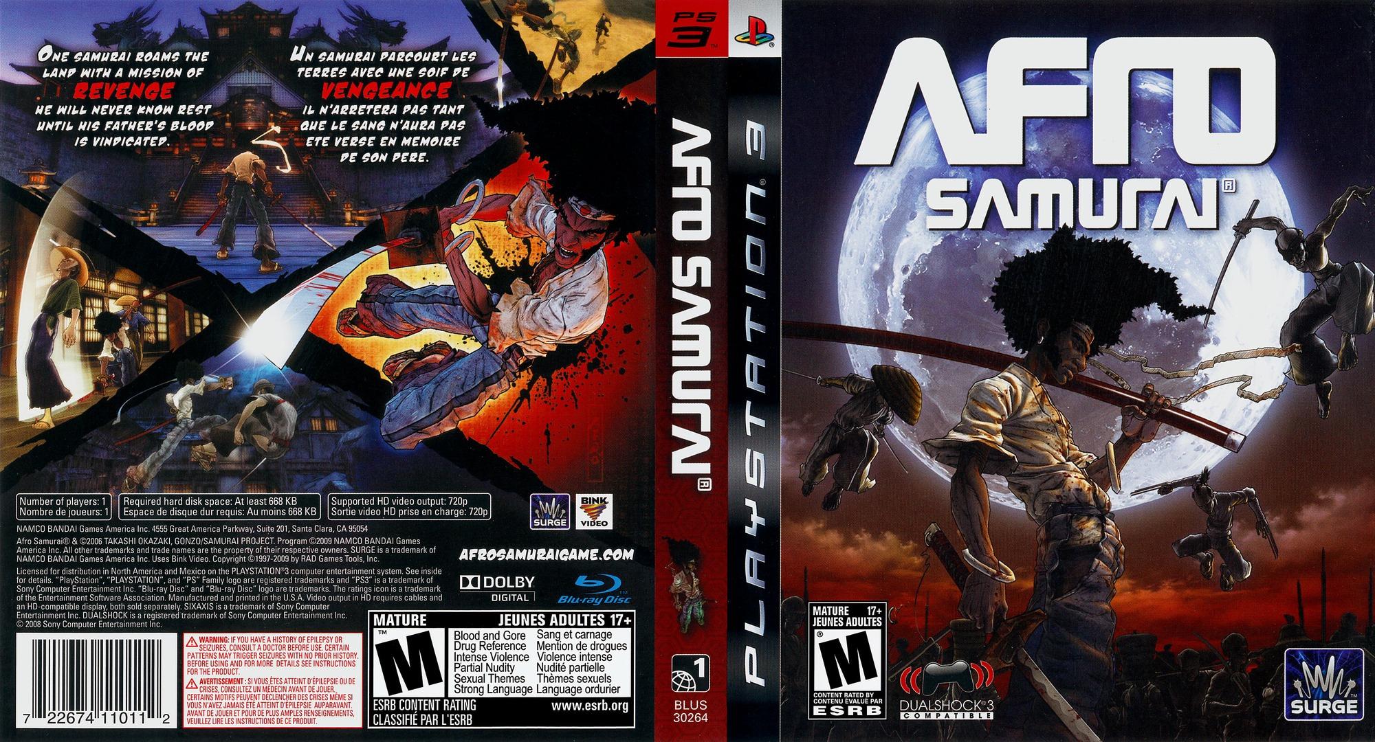 Afro Samurai PS3 coverfullHQ (BLUS30264)