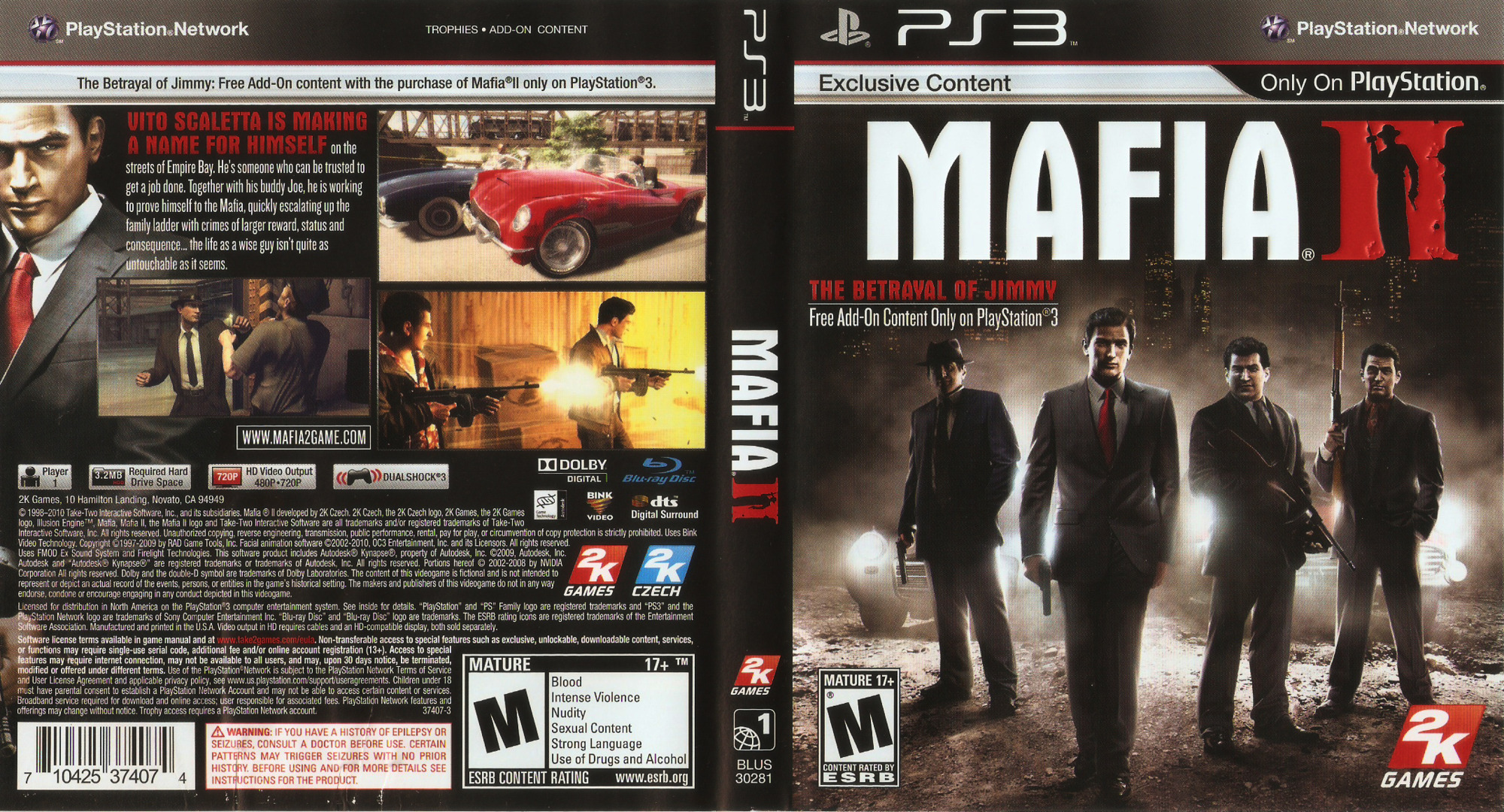 Mafia II PS3 coverfullHQ (BLUS30281)