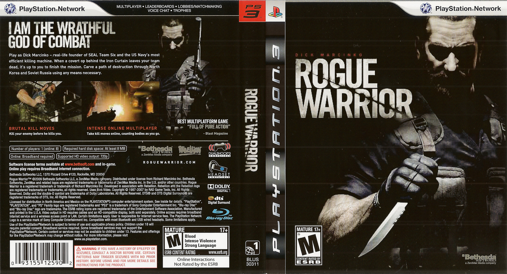 Rogue Warrior PS3 coverfullHQ (BLUS30311)