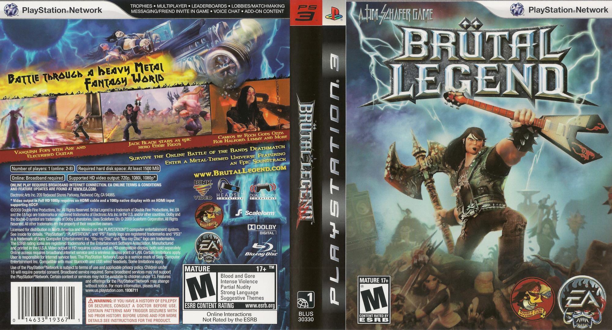 Brutal Legend PS3 coverfullHQ (BLUS30330)