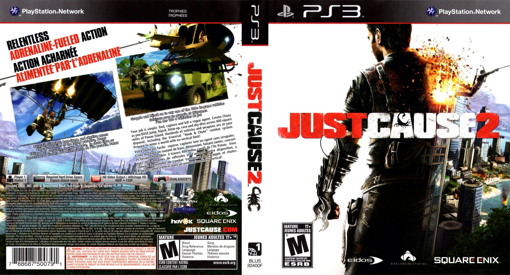 Just Cause 2 PS3 coverfullHQ (BLUS30400)