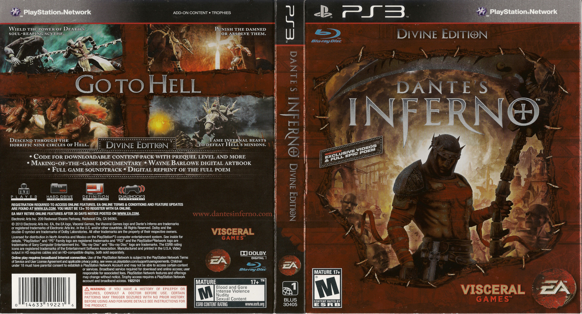 Dante's Inferno (Divine Edition) PS3 coverfullHQ (BLUS30405)