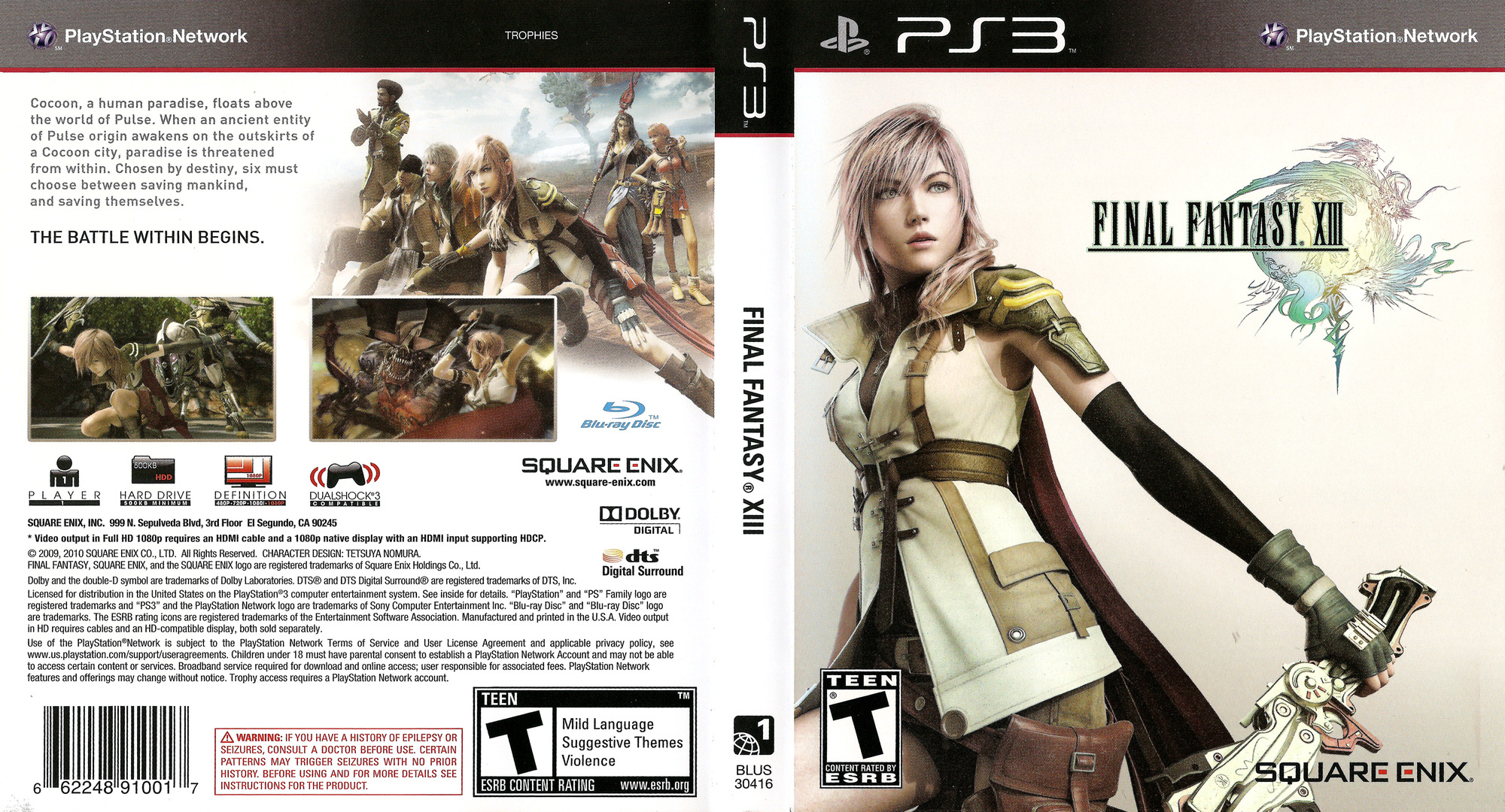 Final Fantasy XIII PS3 coverfullHQ (BLUS30416)