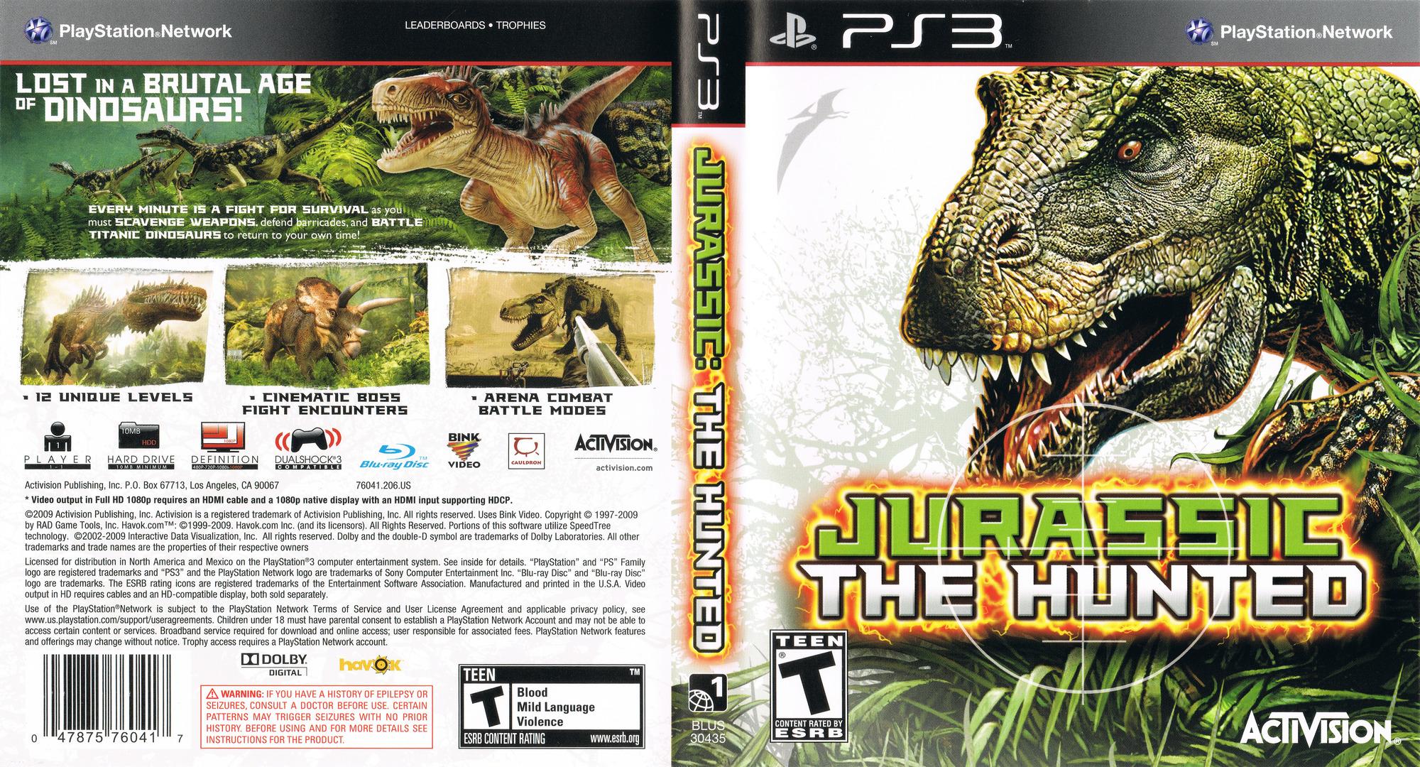 Jurassic: The Hunted PS3 coverfullHQ (BLUS30435)
