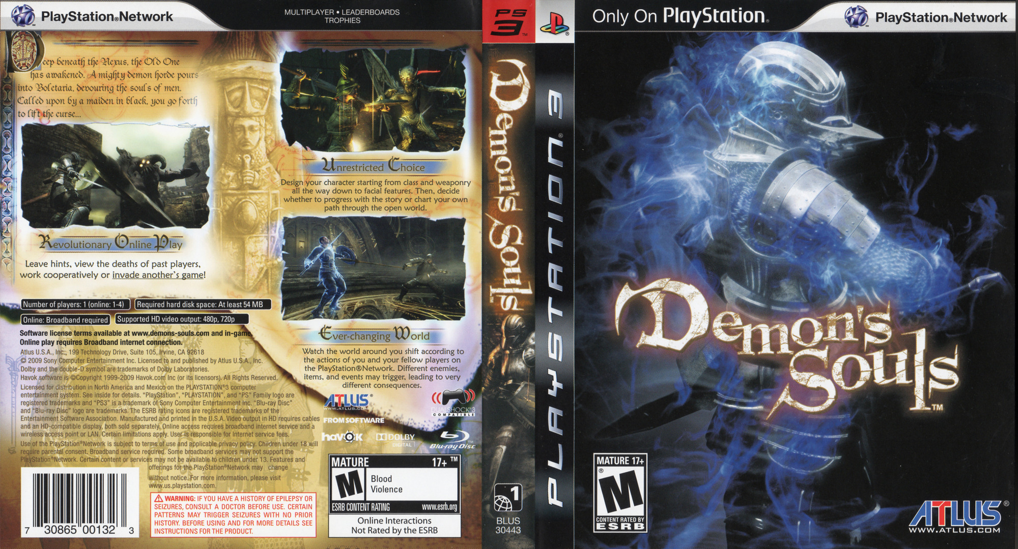 Demon's Souls PS3 coverfullHQ (BLUS30443)