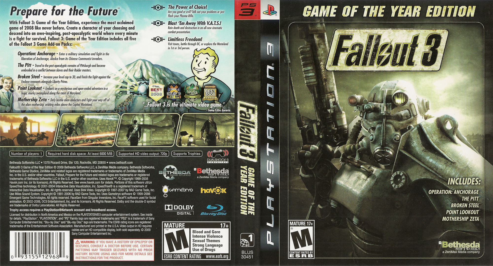 Fallout 3 Game of the Year Edition PS3 coverfullHQ (BLUS30451)