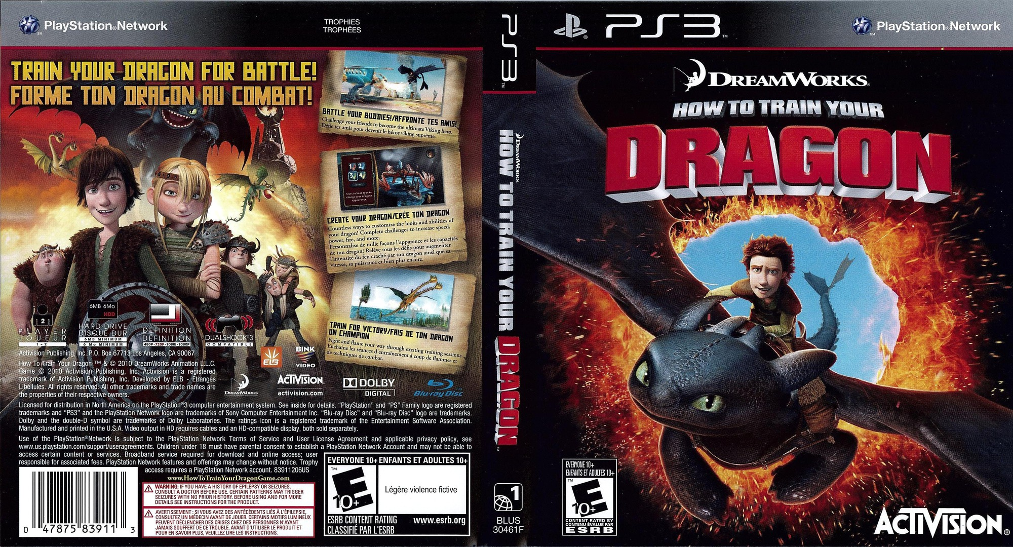 How to Train Your Dragon PS3 coverfullHQ (BLUS30461)