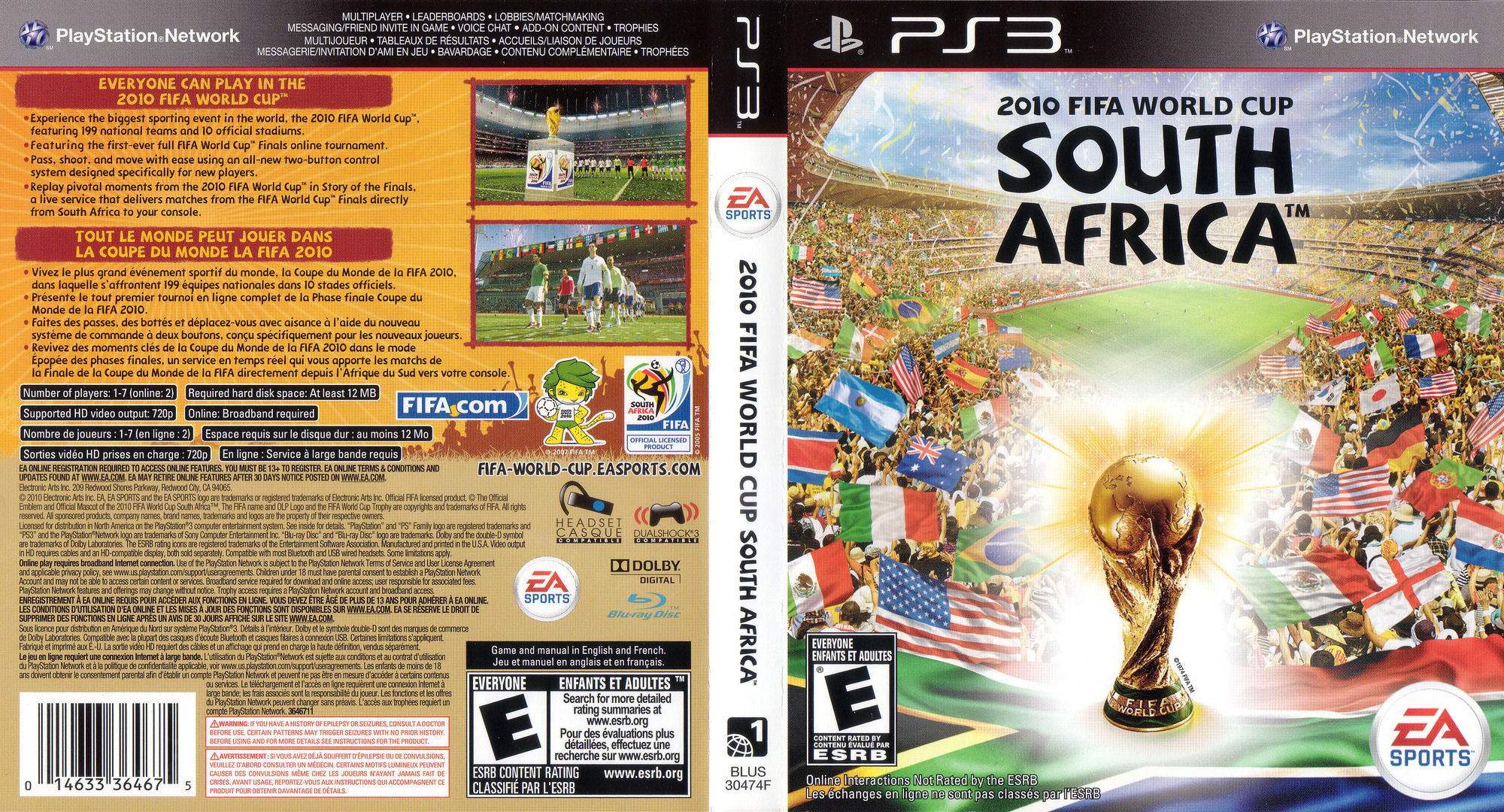 FIFA World Cup 2010: South Africa PS3 coverfullHQ (BLUS30474)