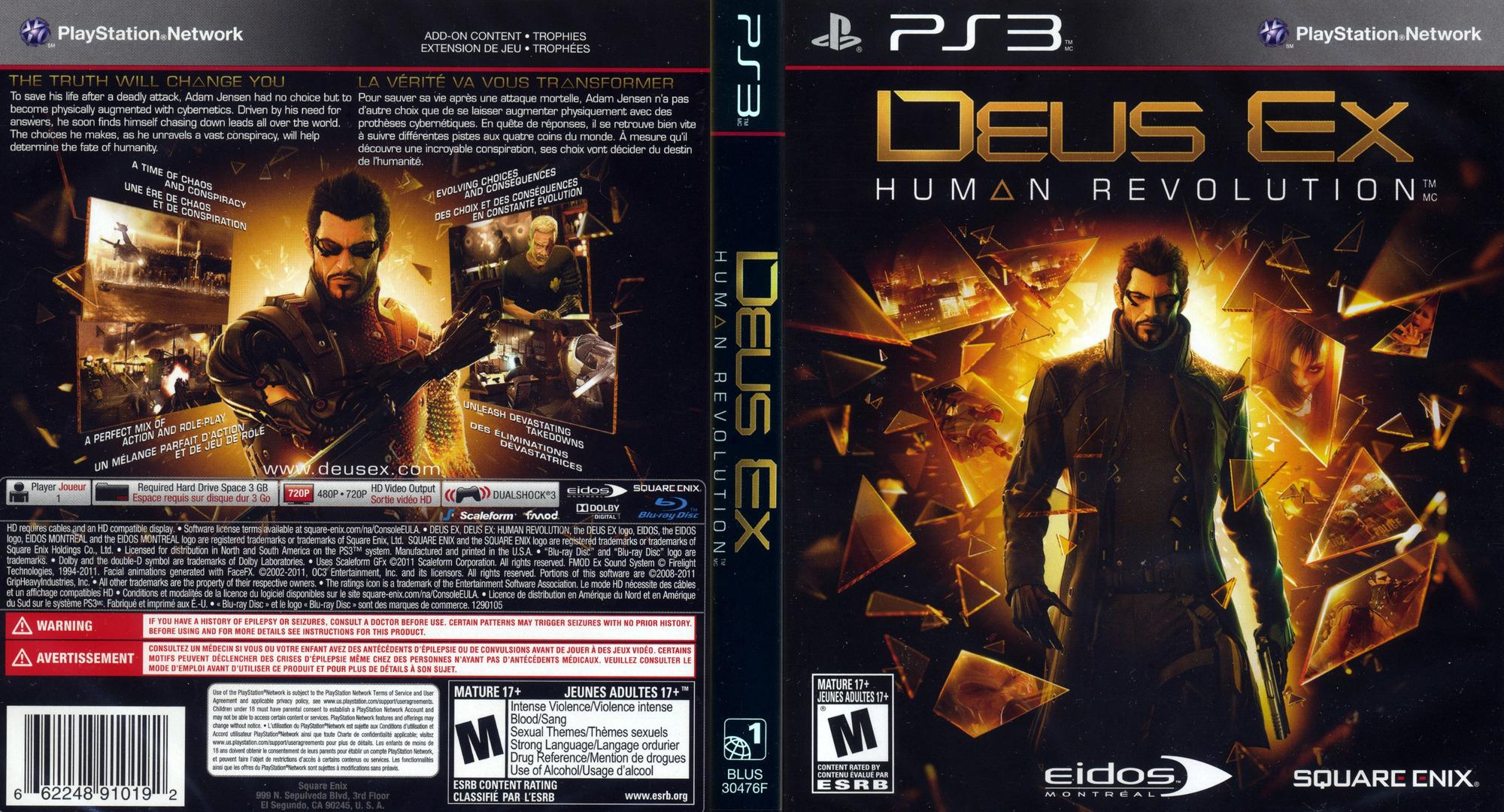 Release Date >> BLUS30476 - Deus Ex: Human Revolution