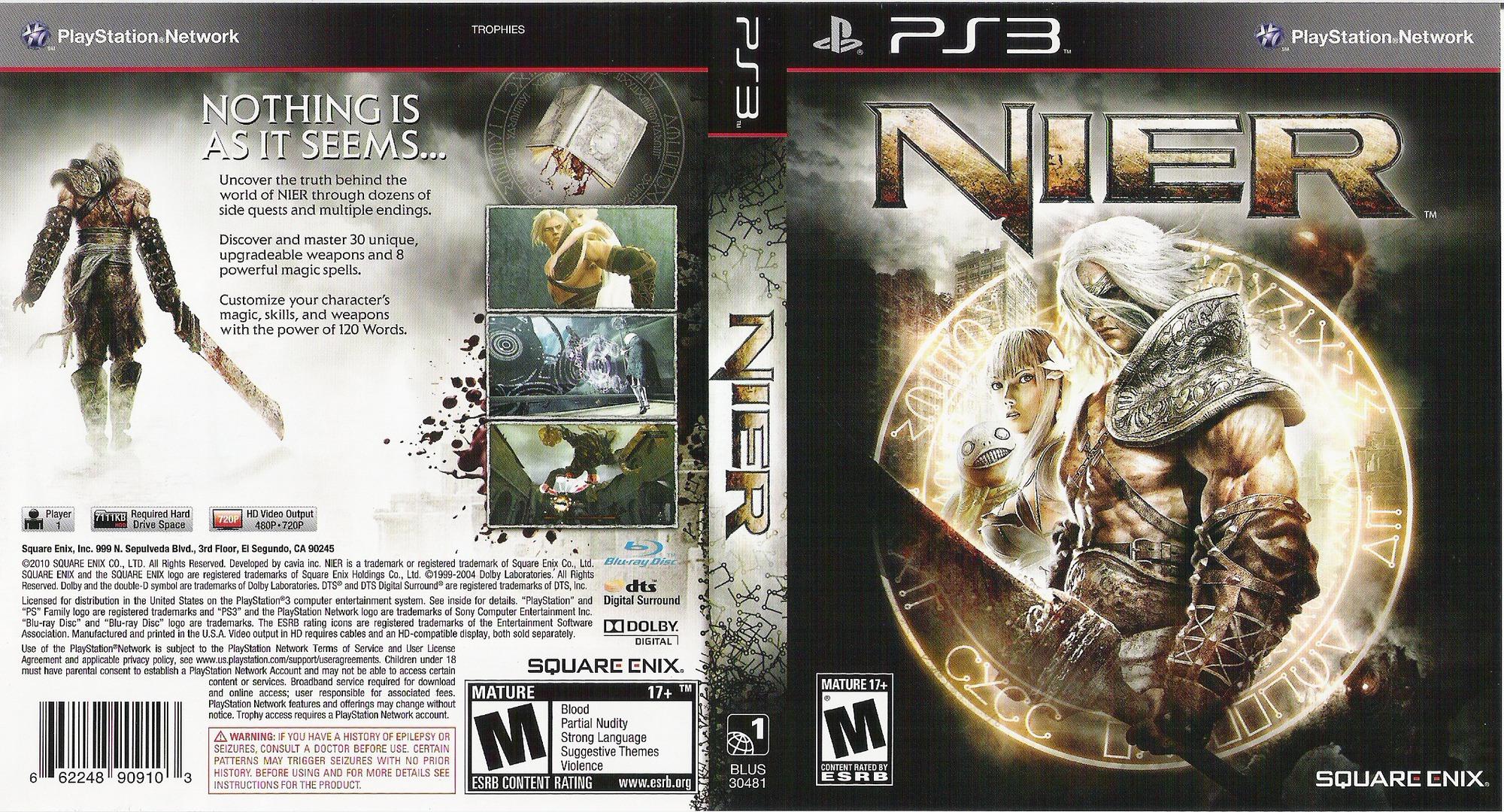 Nier PS3 coverfullHQ (BLUS30481)