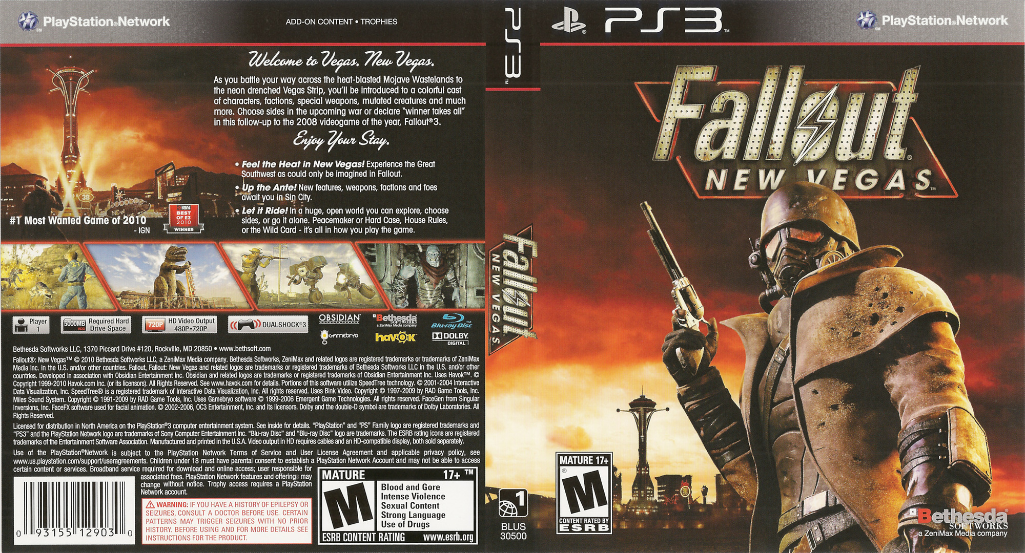 Fallout: New Vegas PS3 coverfullHQ (BLUS30500)