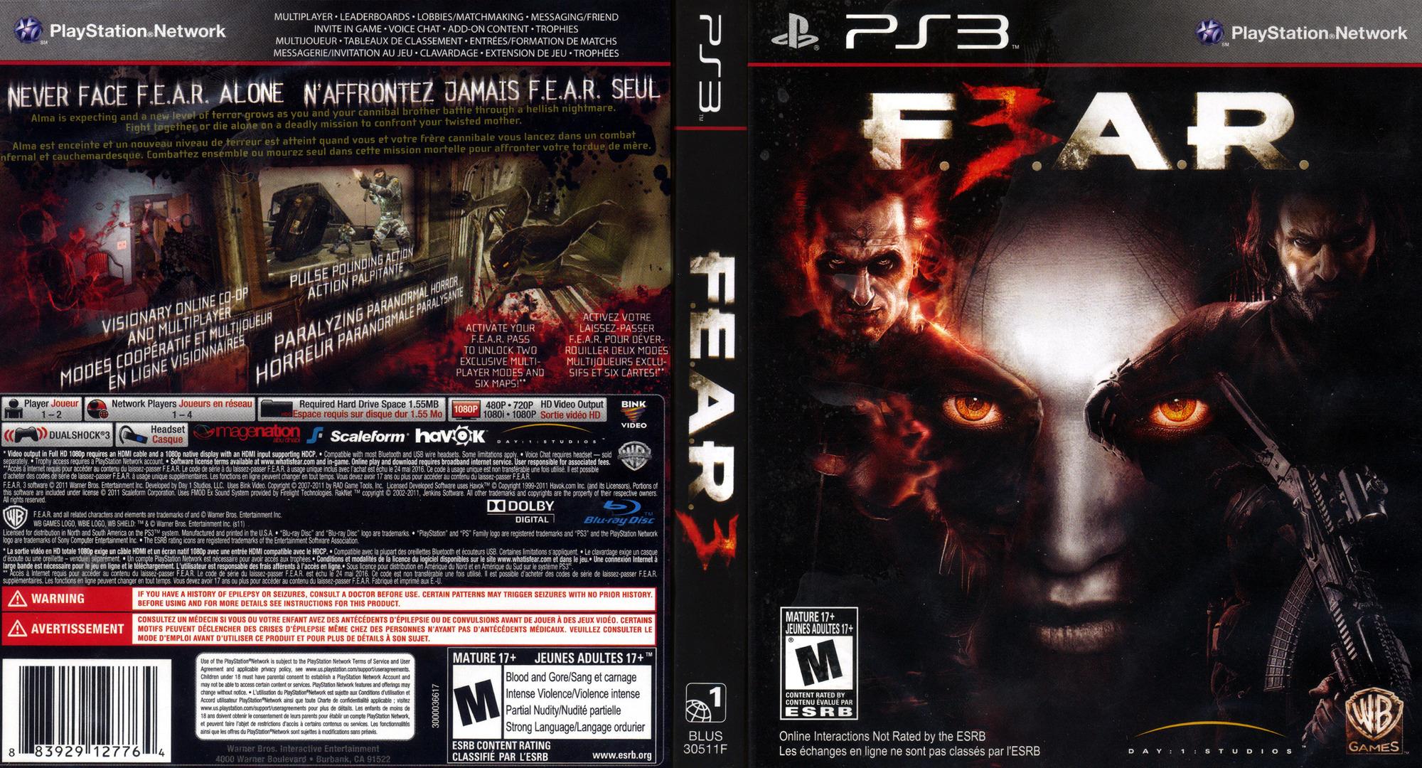 F.E.A.R. 3 PS3 coverfullHQ (BLUS30511)