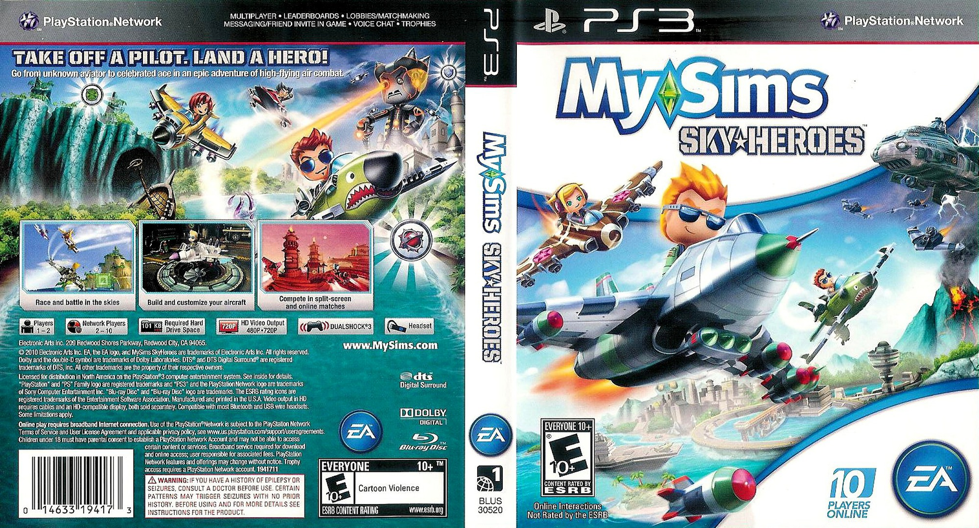 MySims SkyHeroes PS3 coverfullHQ (BLUS30520)