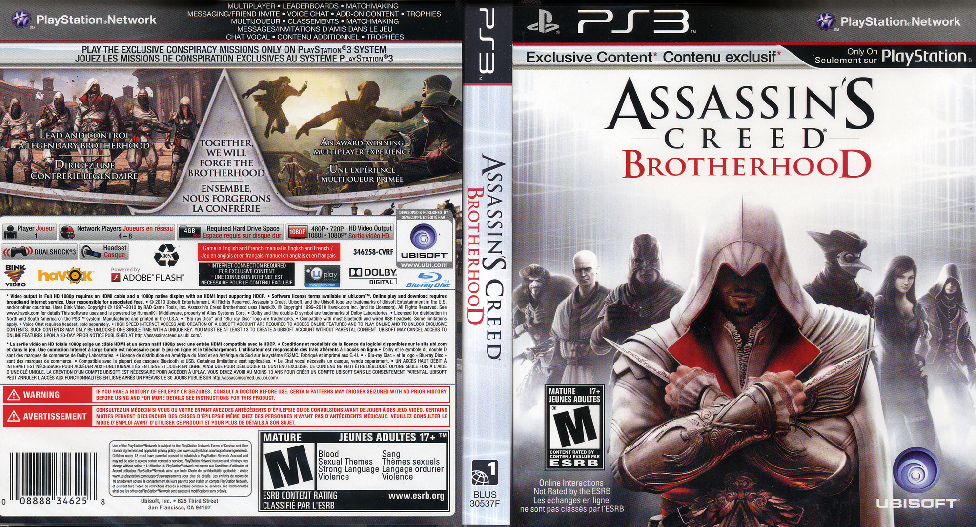 Assassin's Creed: Brotherhood PS3 coverfullHQ (BLUS30537)