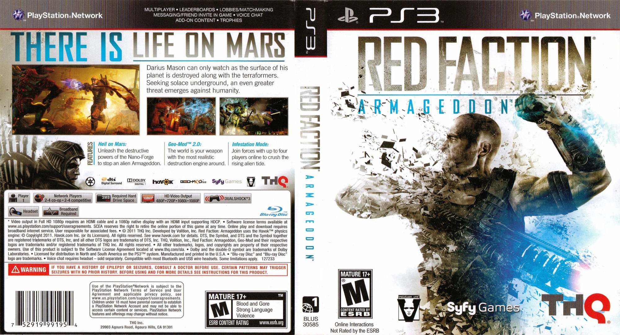 Red Faction: Armageddon PS3 coverfullHQ (BLUS30585)