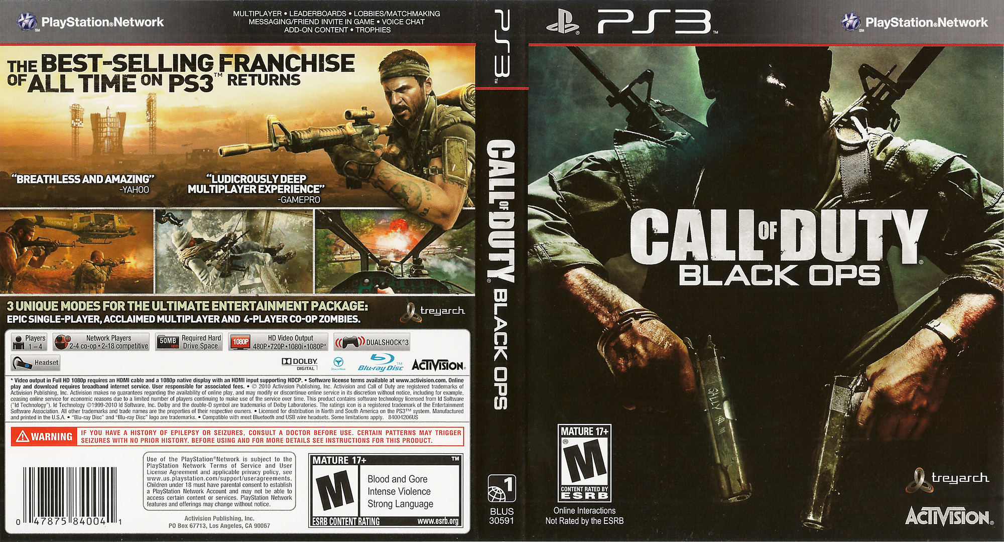 Call of Duty: Black Ops PS3 coverfullHQ (BLUS30591)