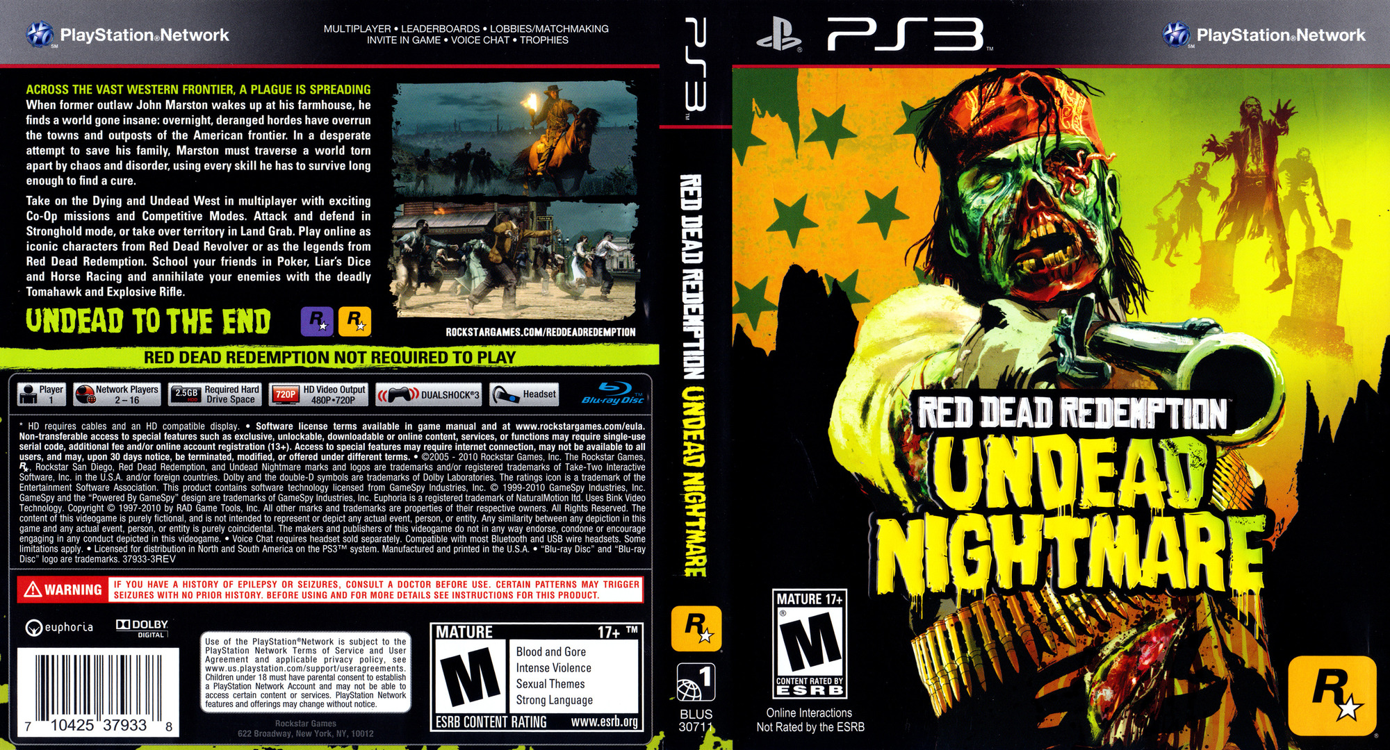 Red Dead Redemption: Undead Nightmare Collection PS3 coverfullHQ (BLUS30711)